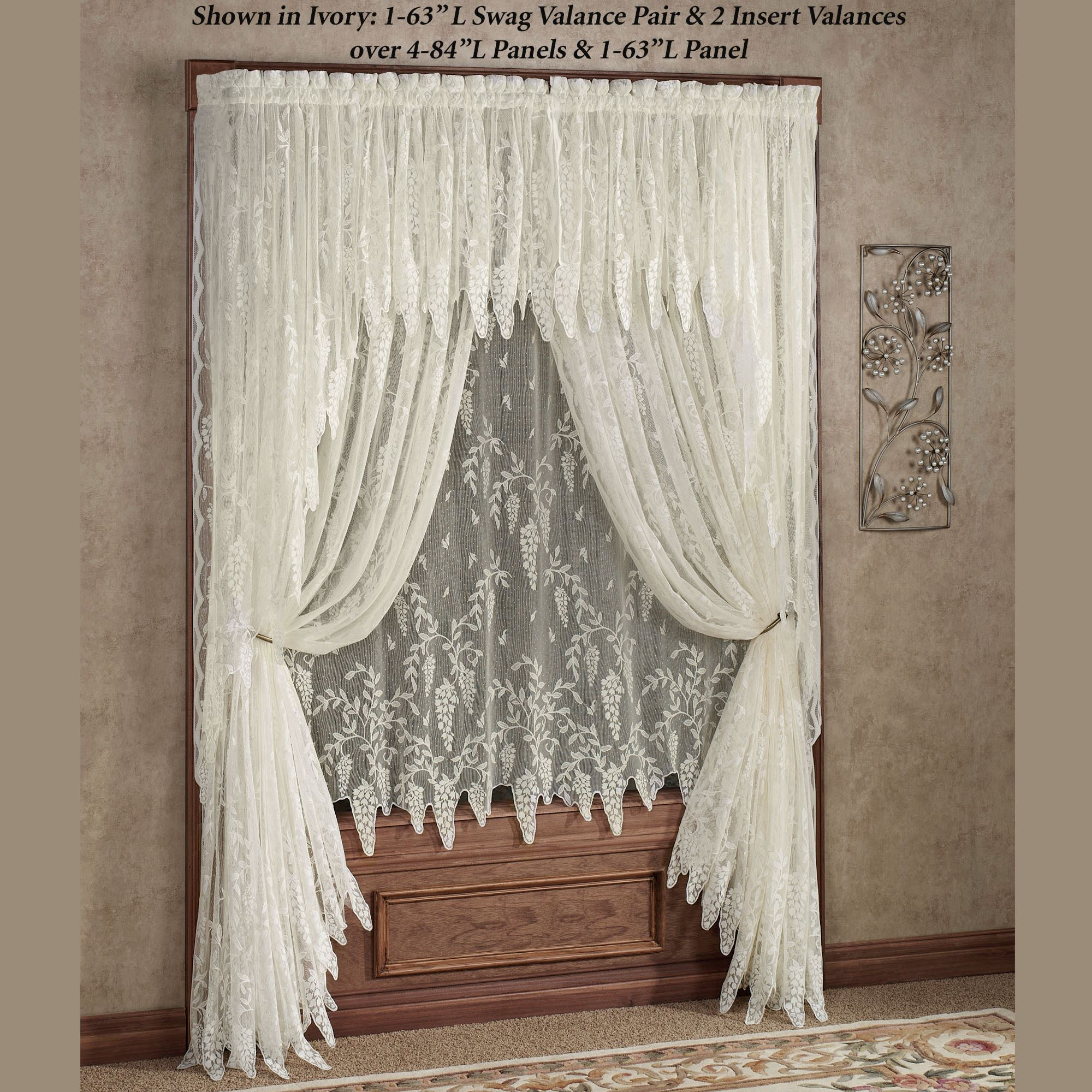 Wisteria Arbor Lace Window Treatments
