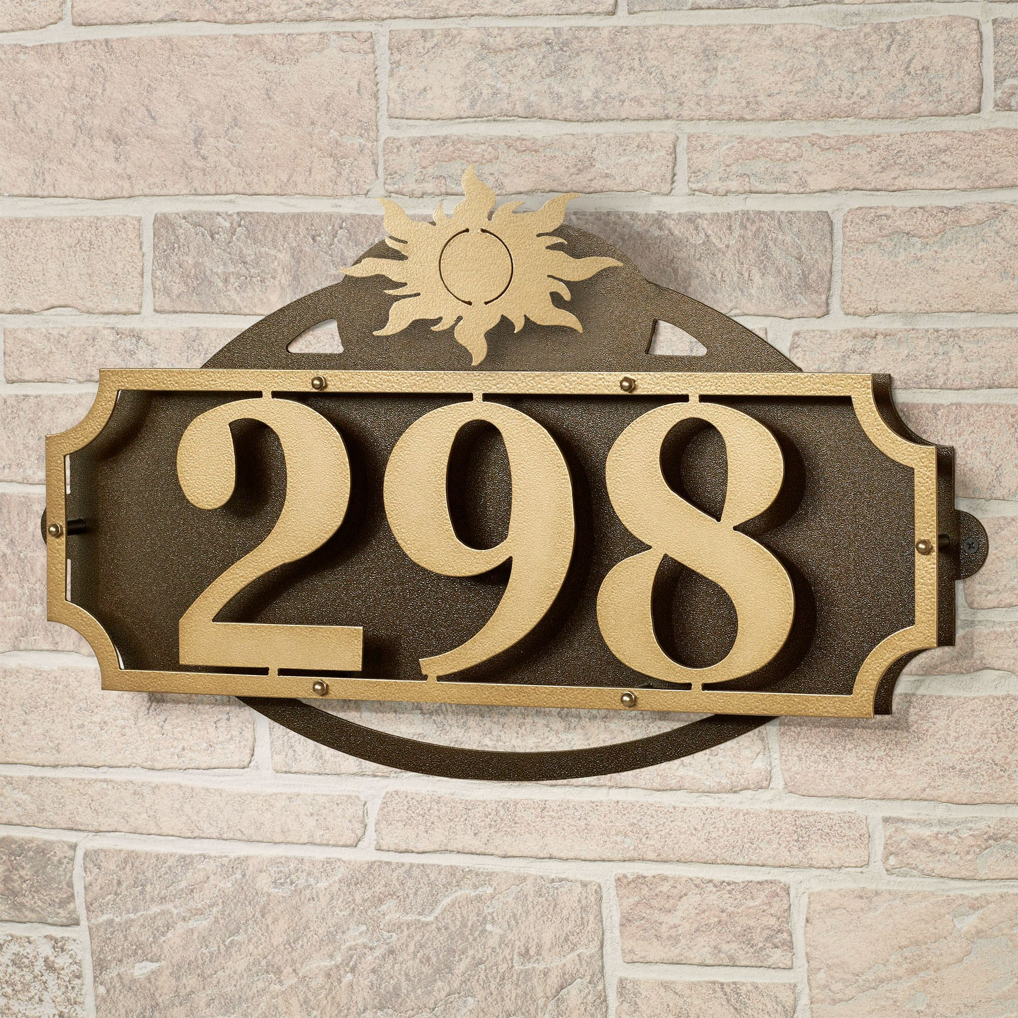 La Casa Sun House Number Wall Address Sign By JasonW Studios