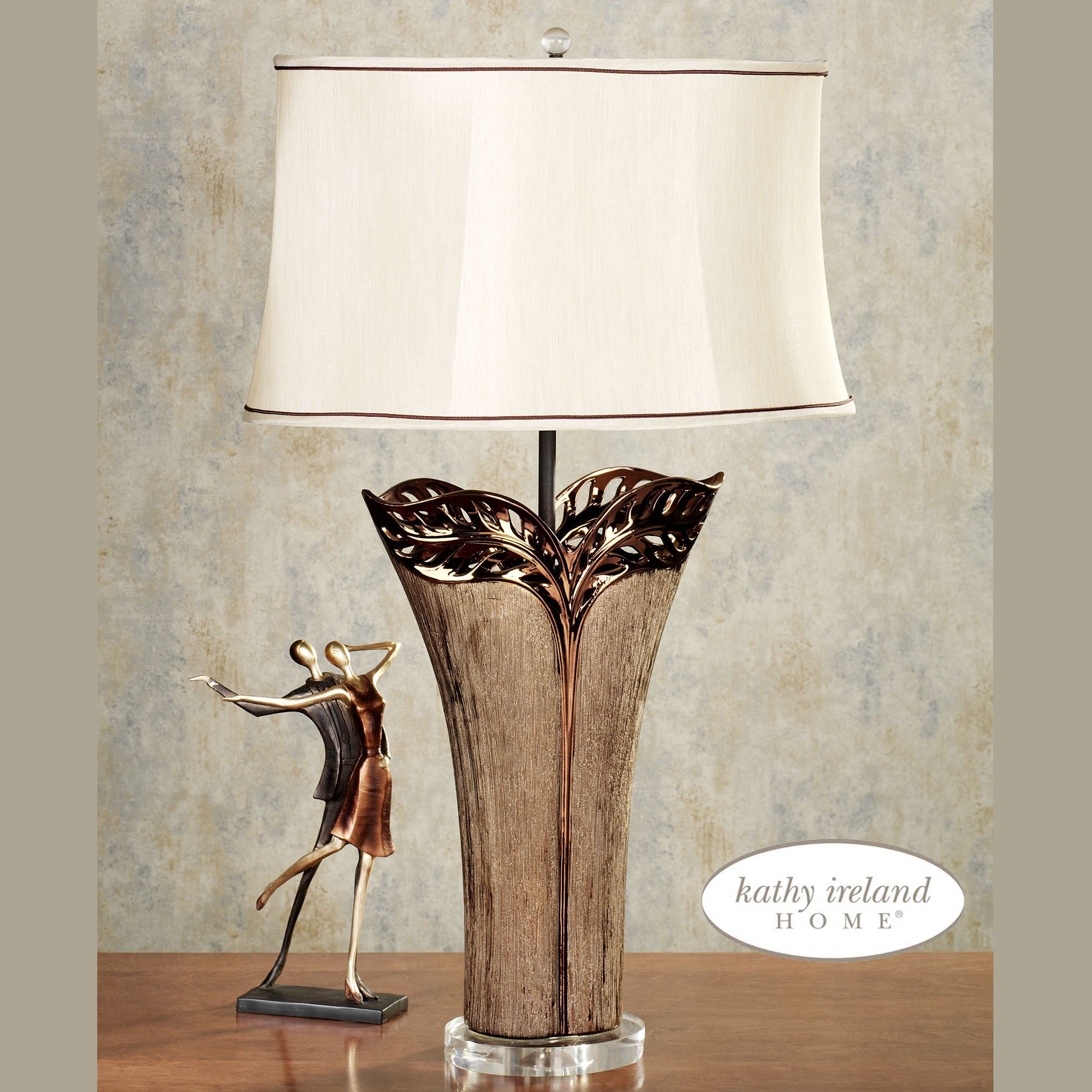 Modern Tropical Chandelier: Tropical Elegance Ceramic Table Lamp