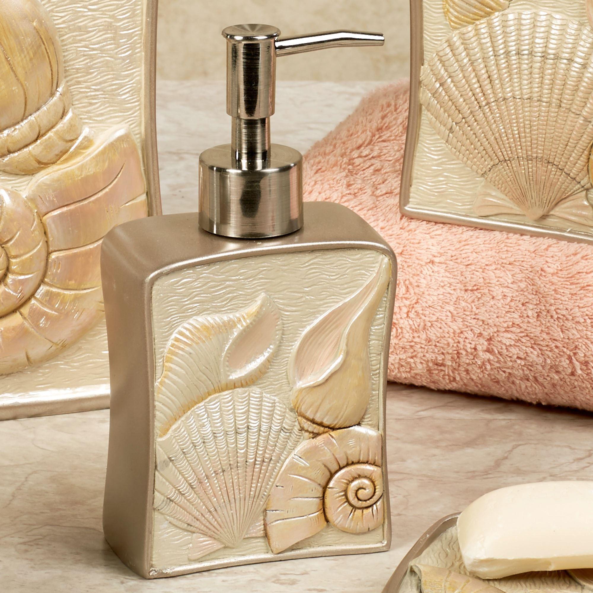Sea Shell Lotion Soap Dispenser Champagne