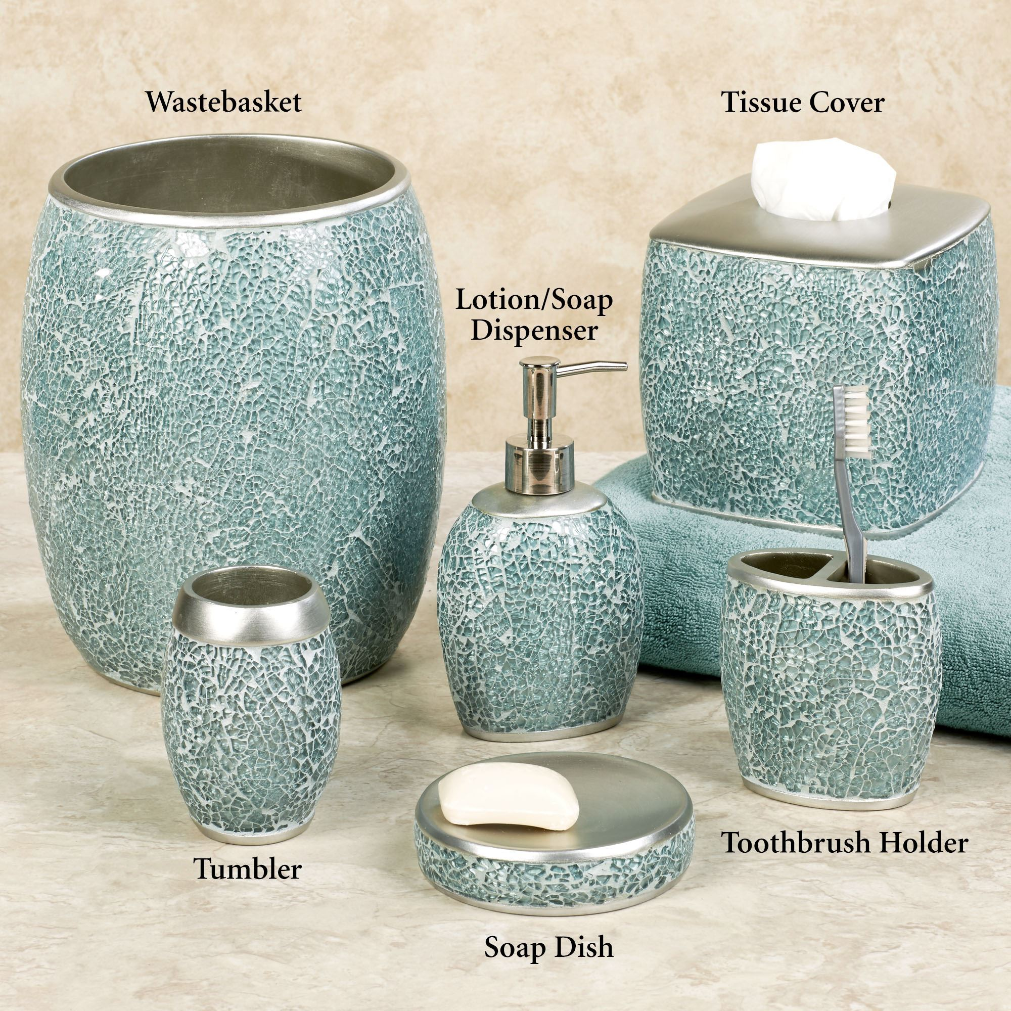 crackle bathroom accessories. Click To Expand Calm Waters Light Aqua Mosaic Bath Accessories