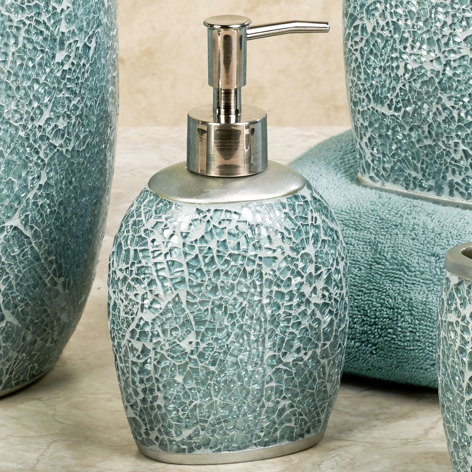 Superbe Calm Waters Lotion Soap Dispenser Aqua