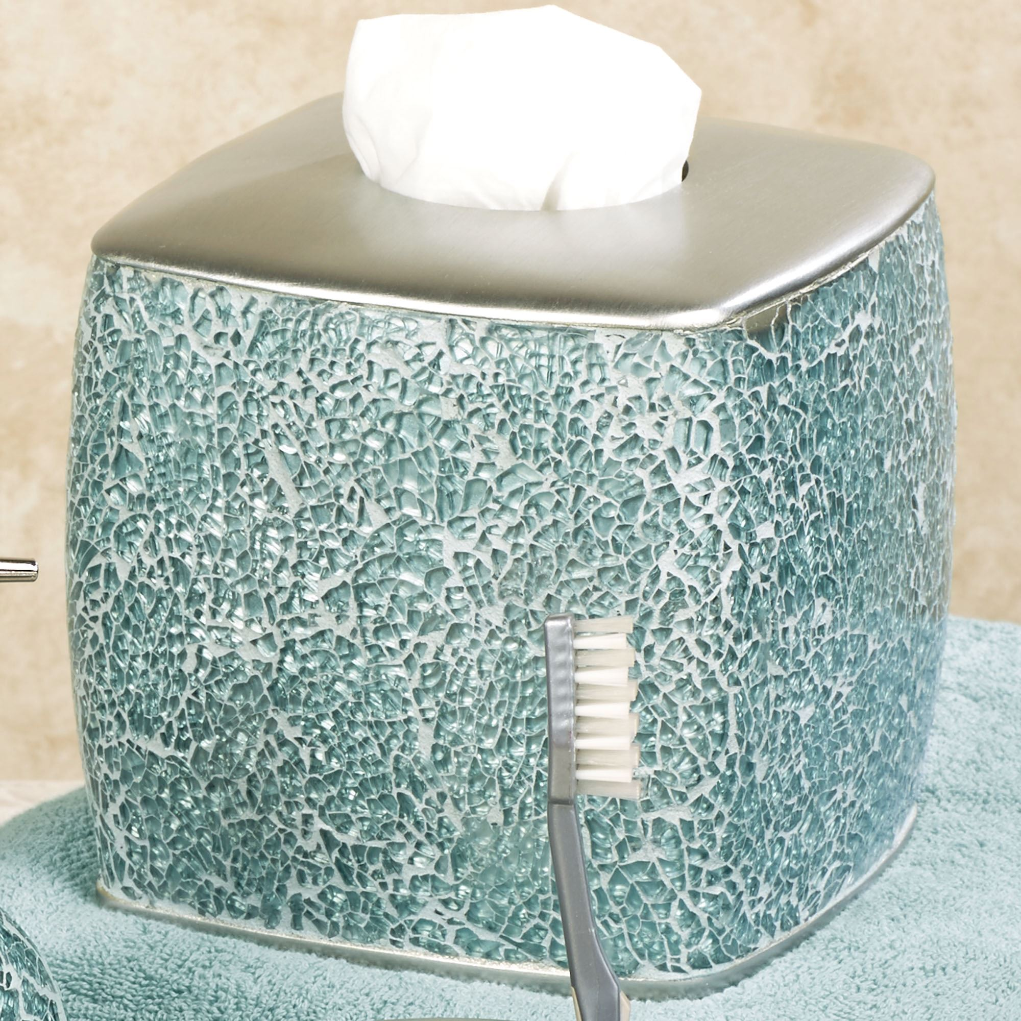 Calm Waters Light Aqua Mosaic Bath Accessories
