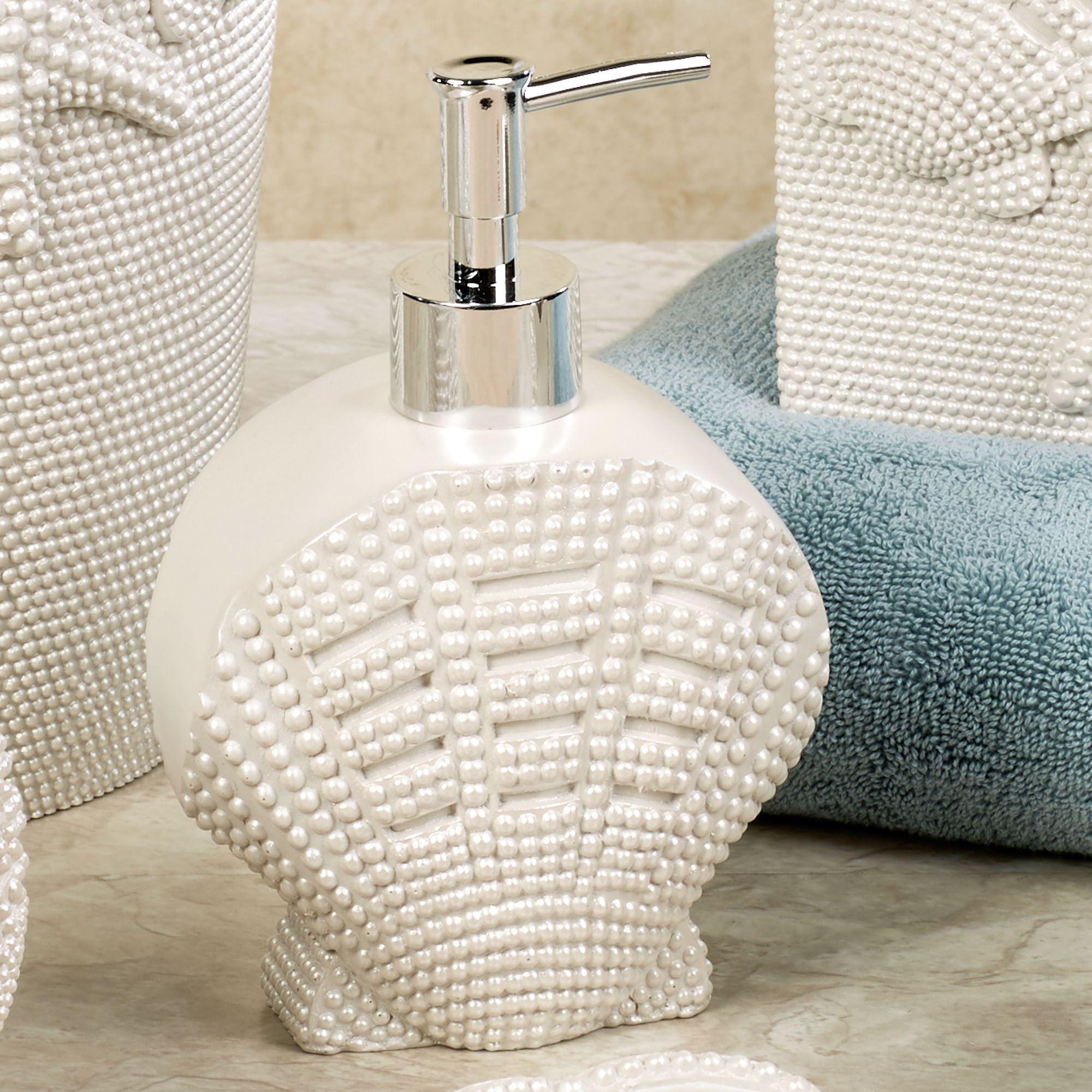 Shells Lotion Soap Dispenser Pearl