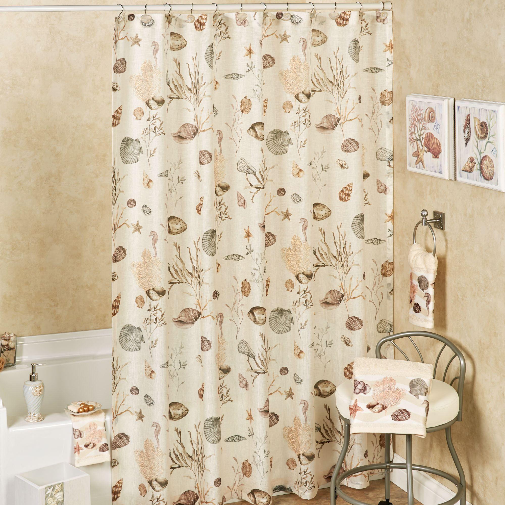 Seashore Shower Curtain Cream 72 X 72