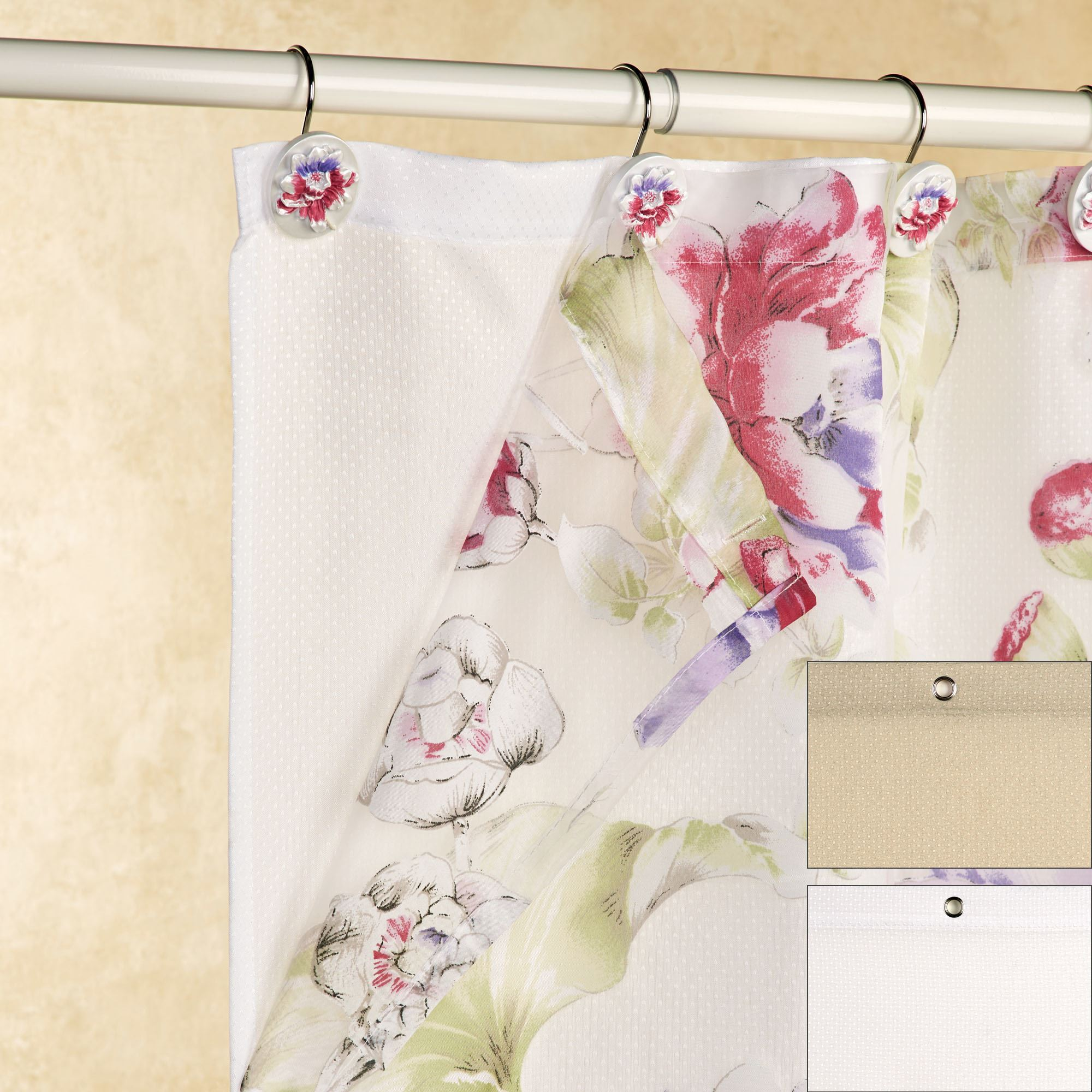 Fabric Shower Curtain Liner 70 X 72 Touch To Zoom