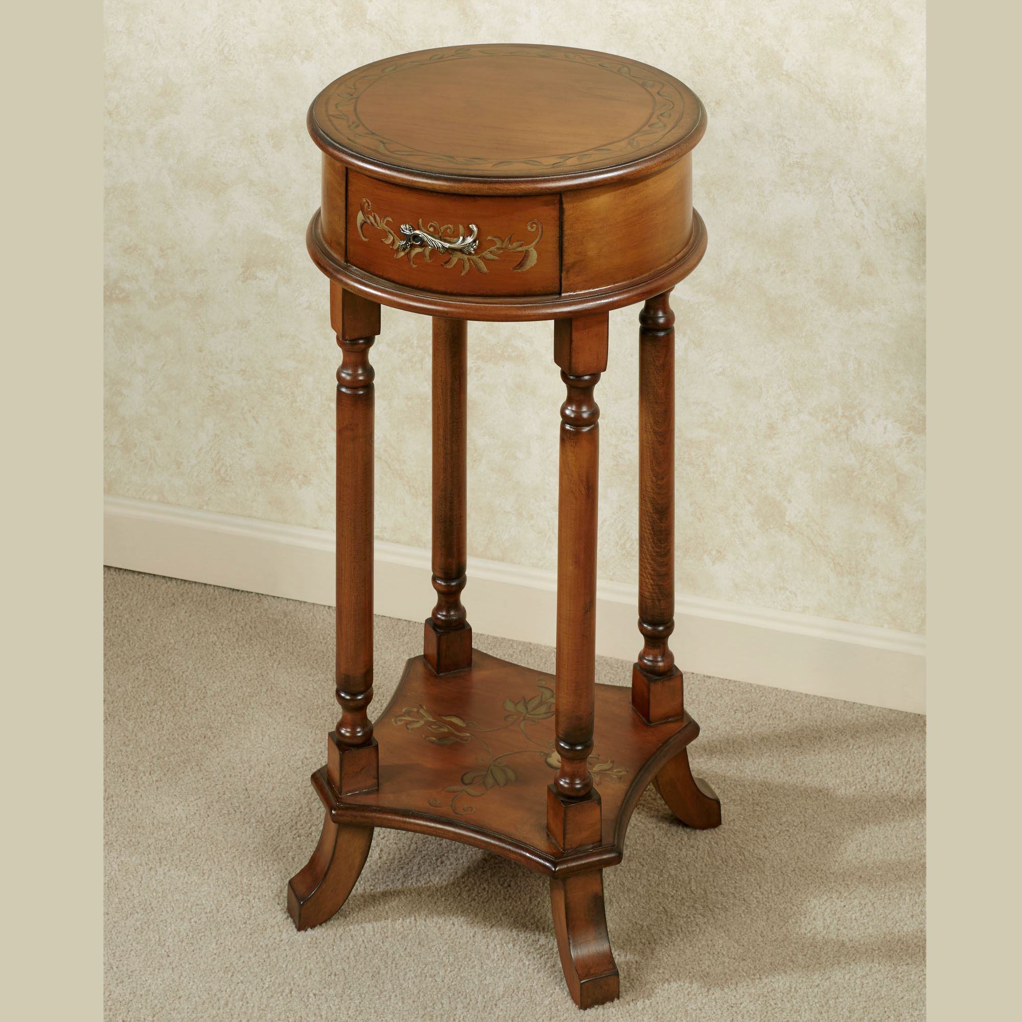 Gentil Trellis Accent Table Regal Walnut. Touch To Zoom