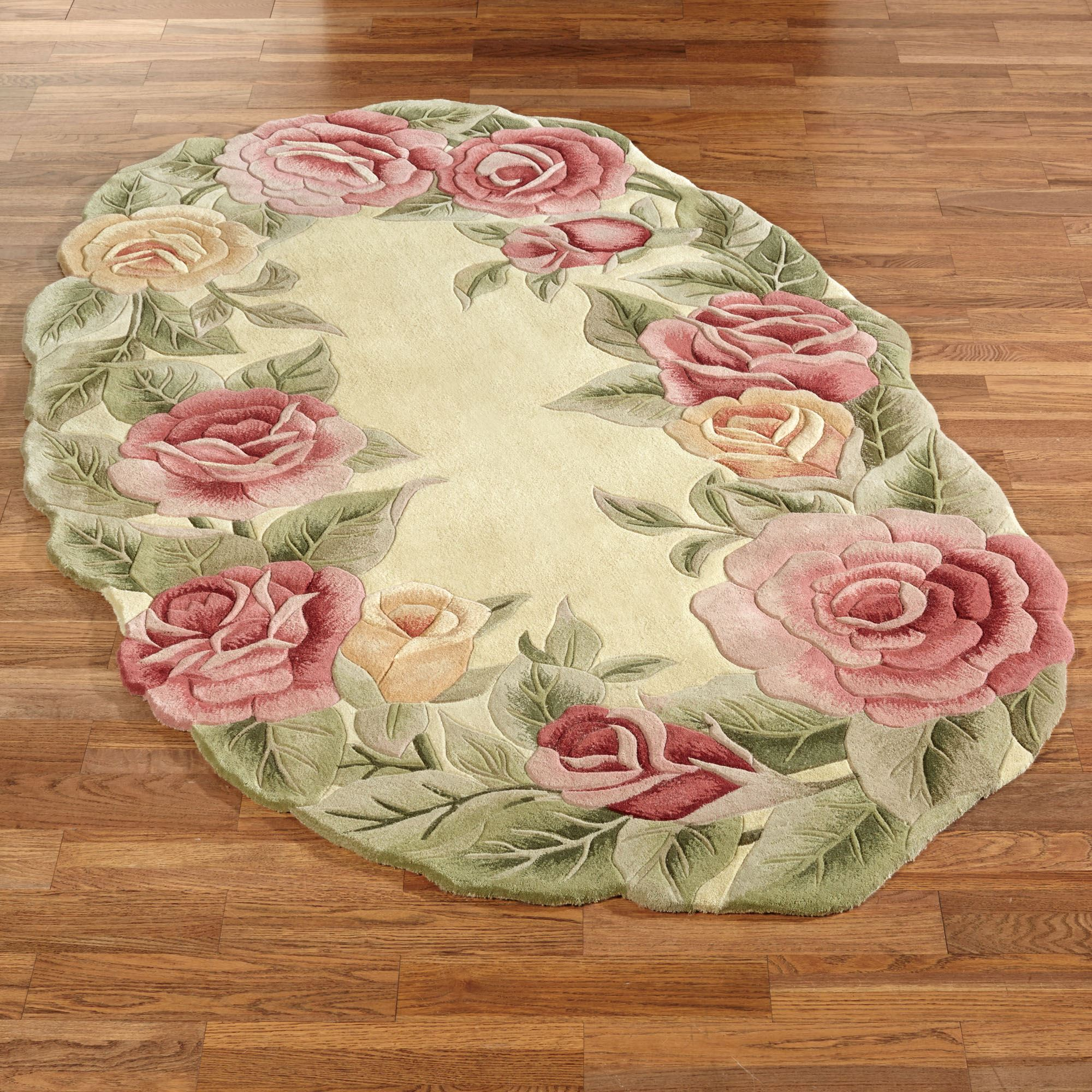 Image of: Roses Oval Rug