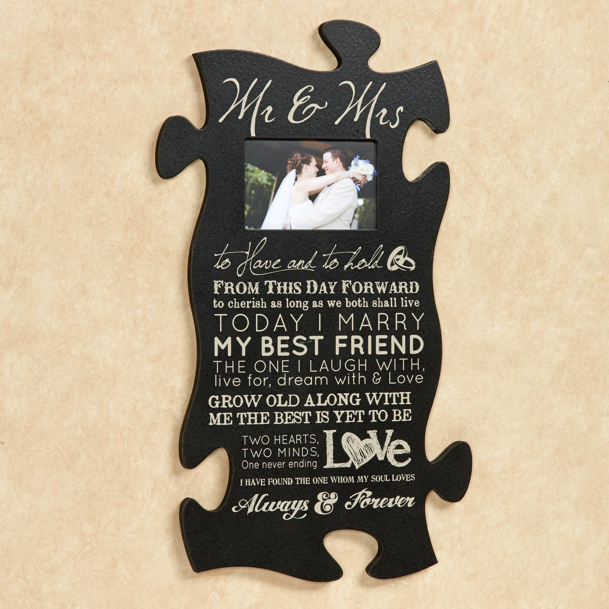mr and mrs quote photo frame black - Mr And Mrs Photo Frame