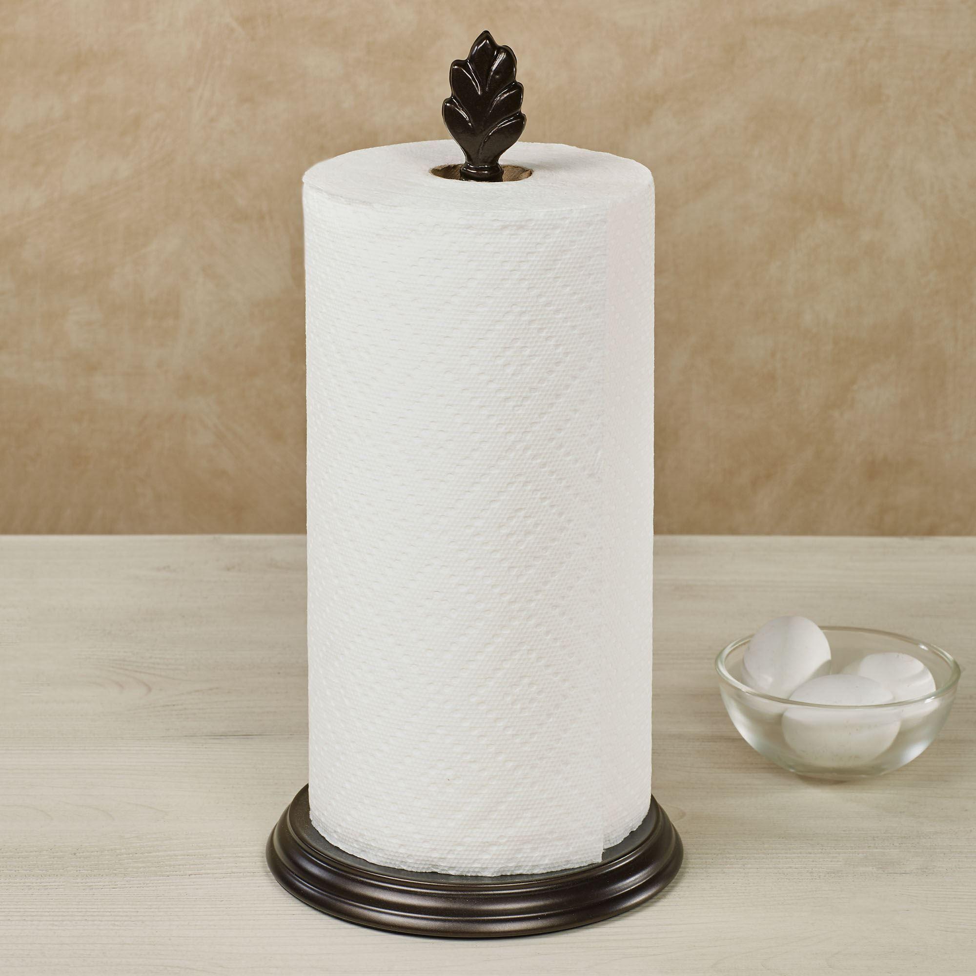 Bronze Leaf Metal Paper Towel Holder