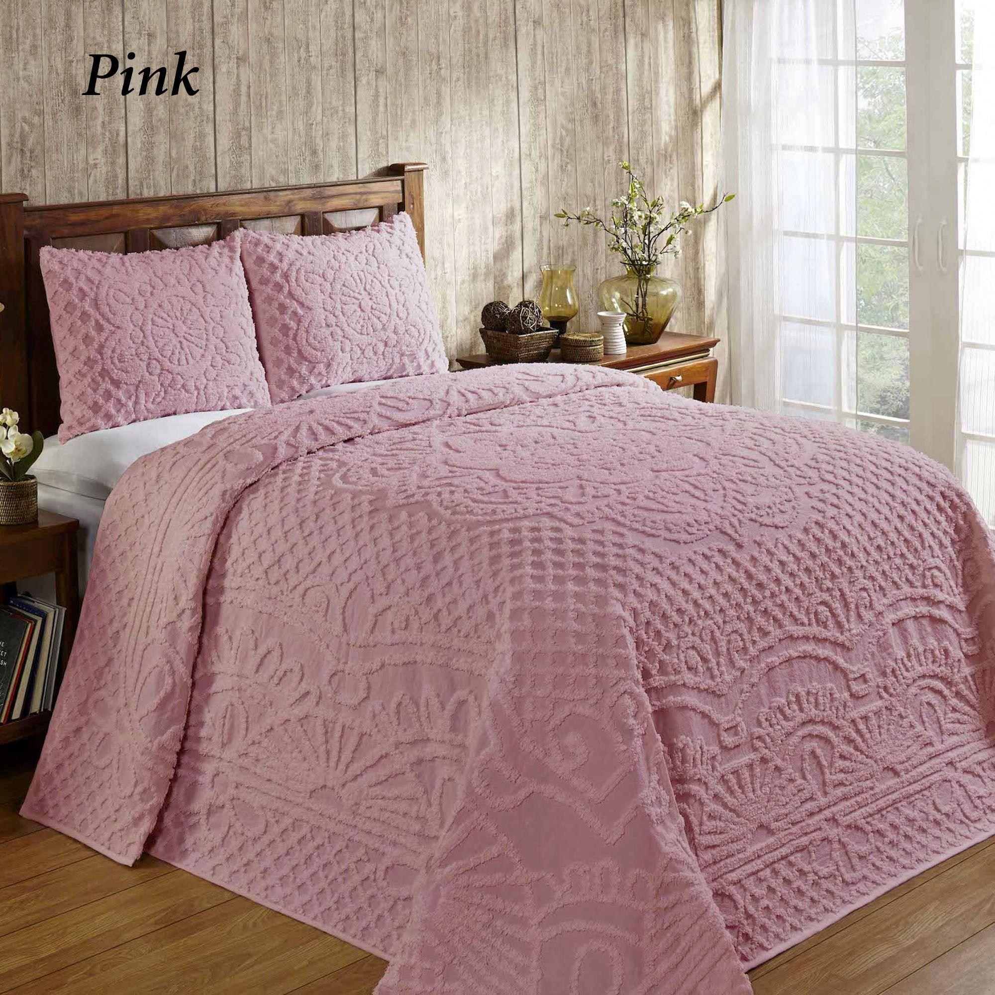 trevor solid color lightweight cotton chenille bedspread set. Black Bedroom Furniture Sets. Home Design Ideas