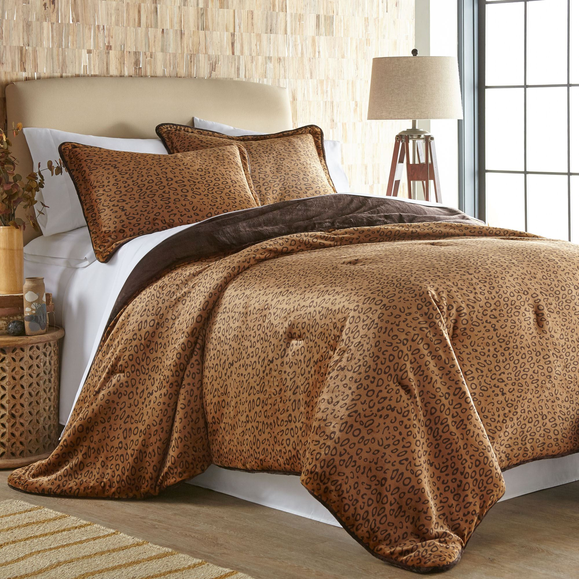 Cheetah Print Ultra Soft Mini Comforter Set
