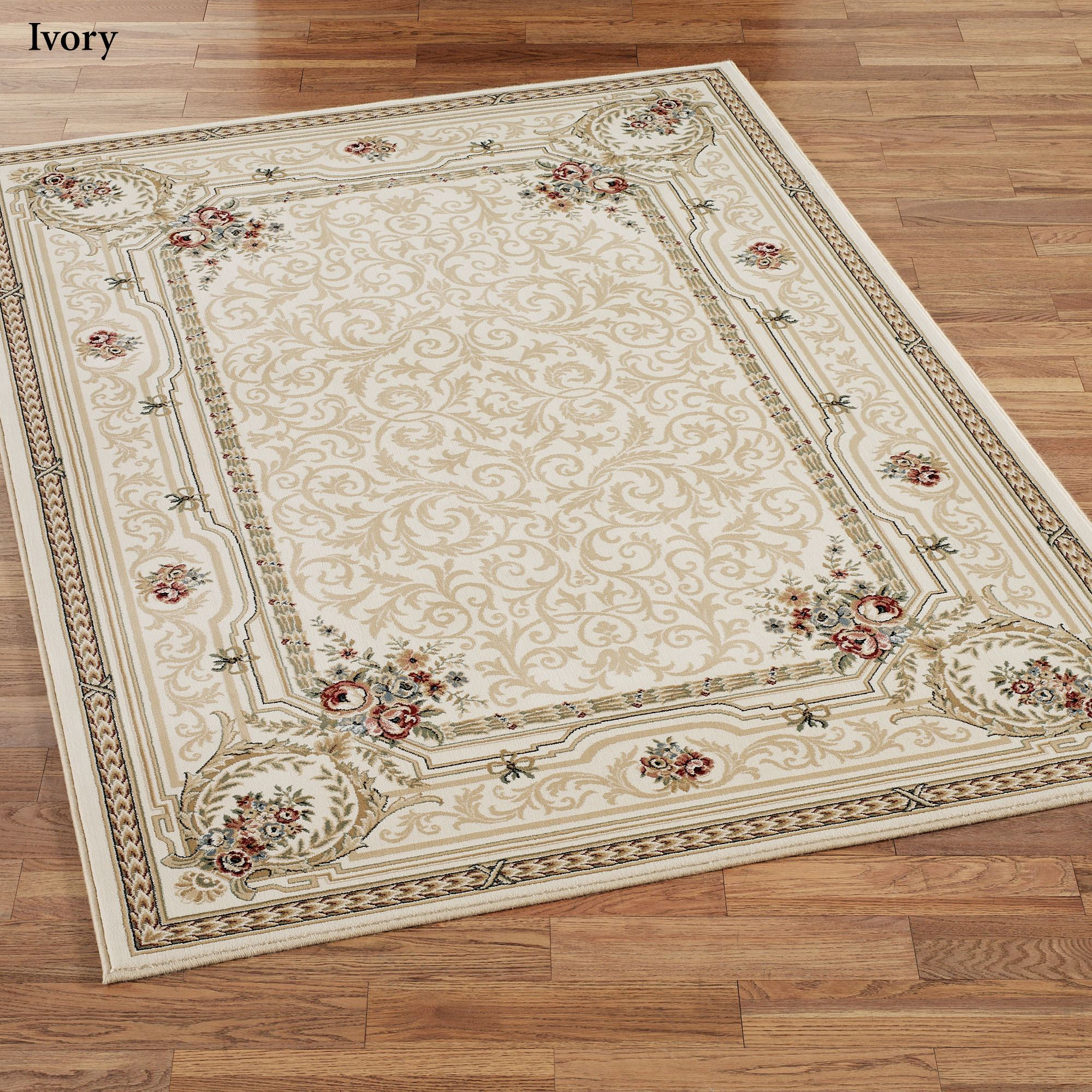 Imogene Garden Acanthus Leaf Scroll Area Rugs