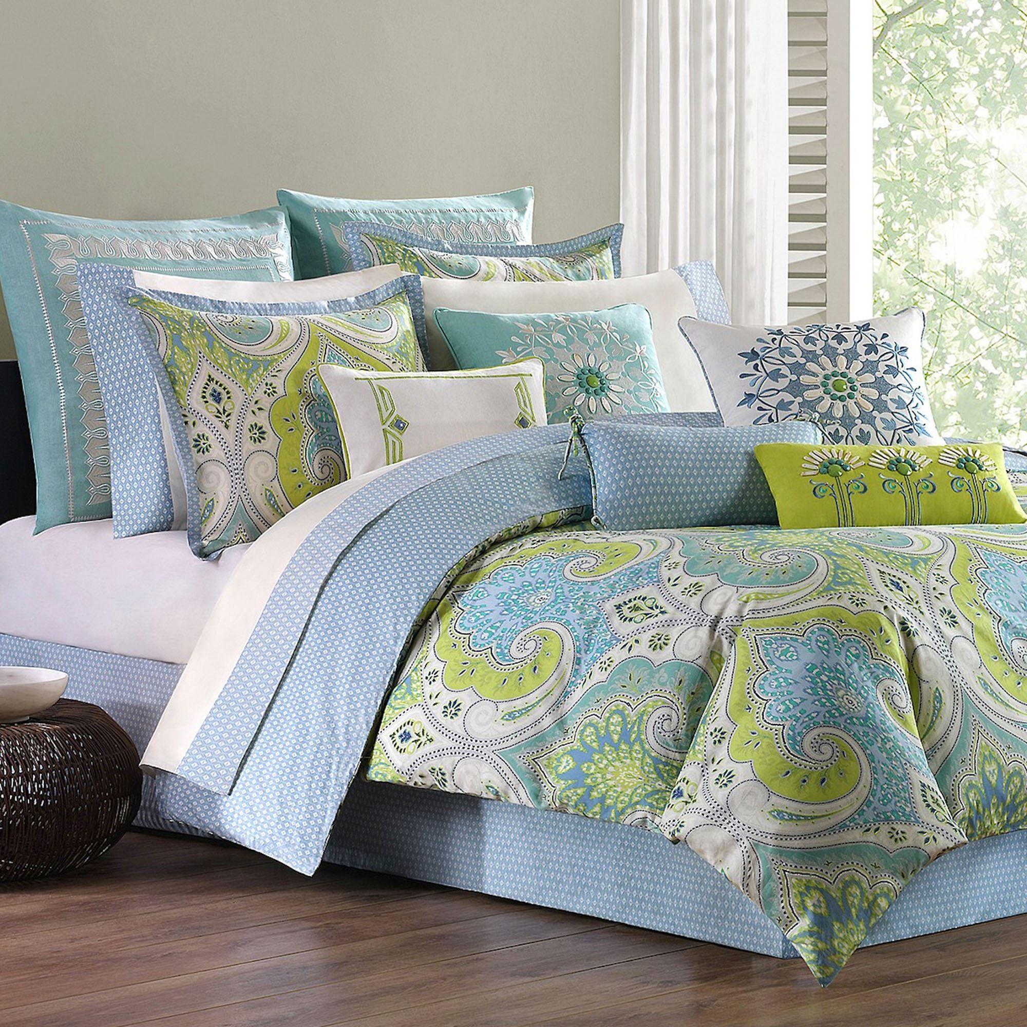 bedroom comforters.  Sardinia Paisley Comforter Bedding