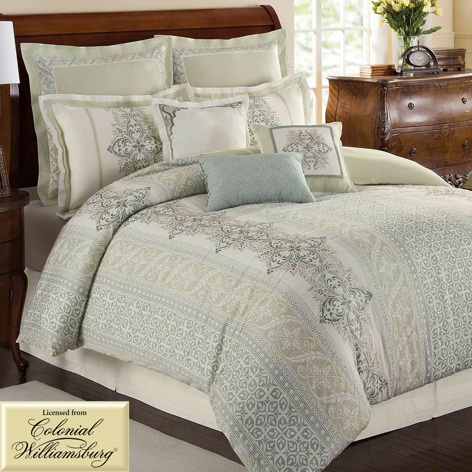 waterford hotel pin set collection bed veranda comforter linens reversible bath beyond