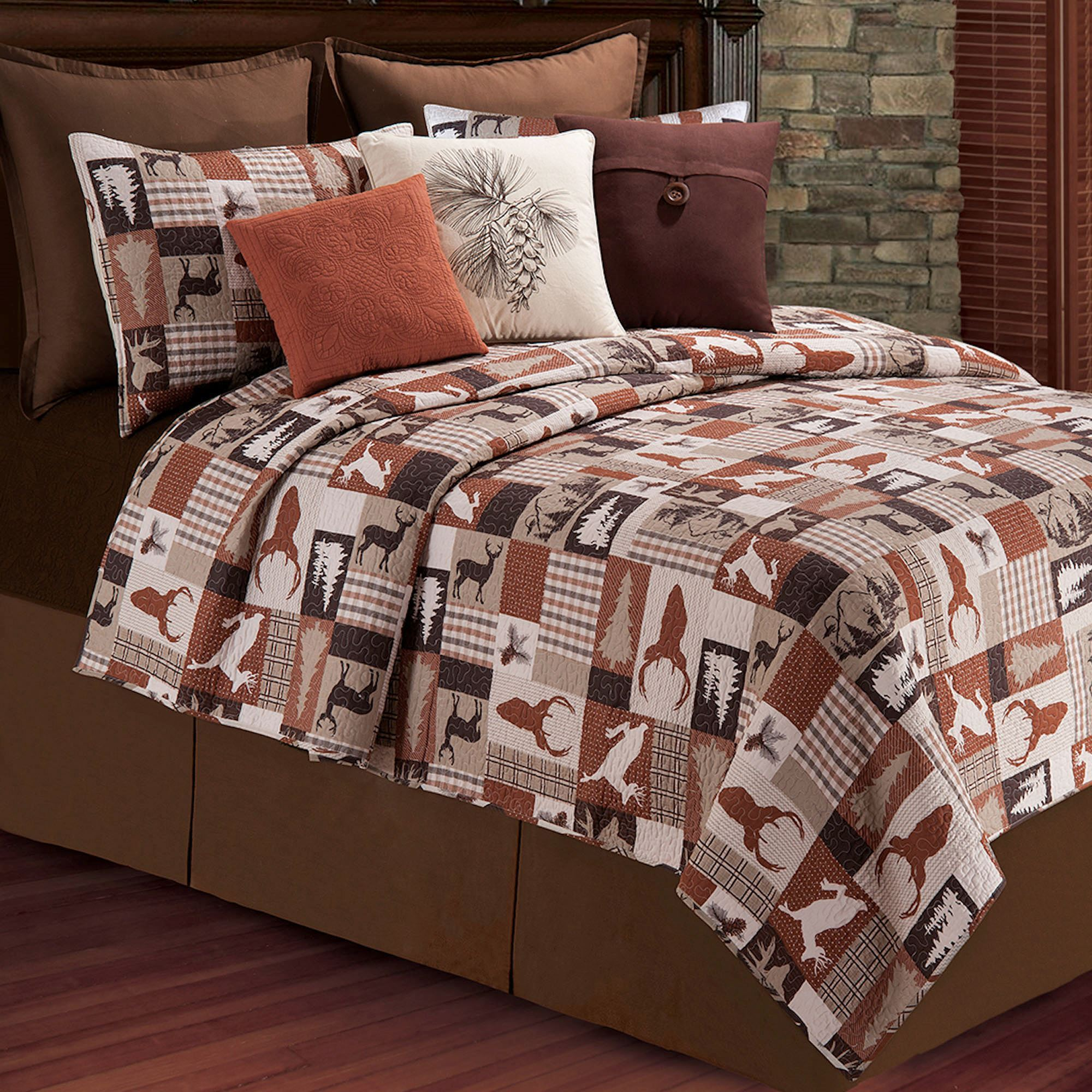 quilt moose cabin mountain bedroom comforters rustic bedding and for bedspread log quilts hunting designs sets king decor fishing bed
