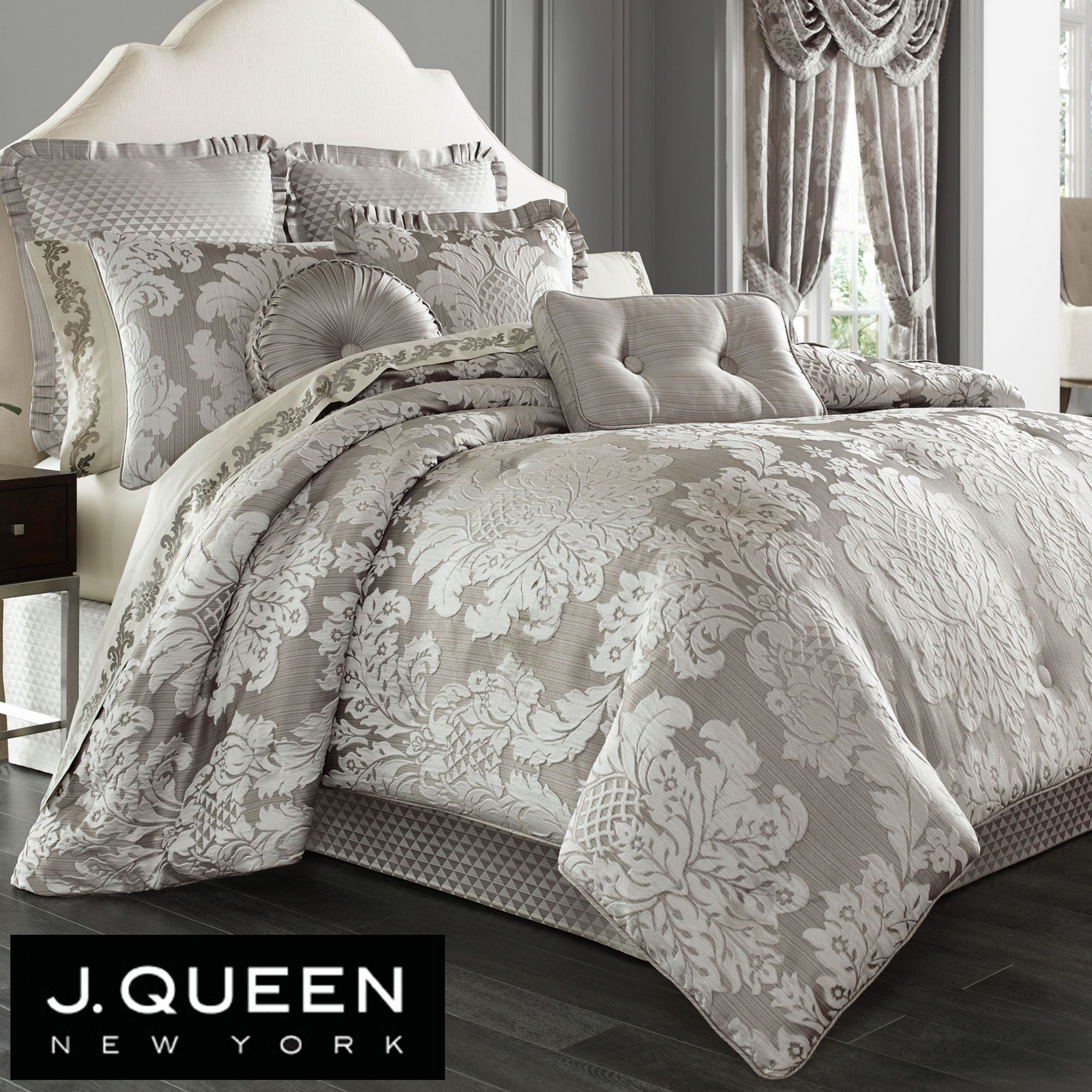 jacquard sets pin harlequin at by queen bedeck passion silver bedding comforter bed