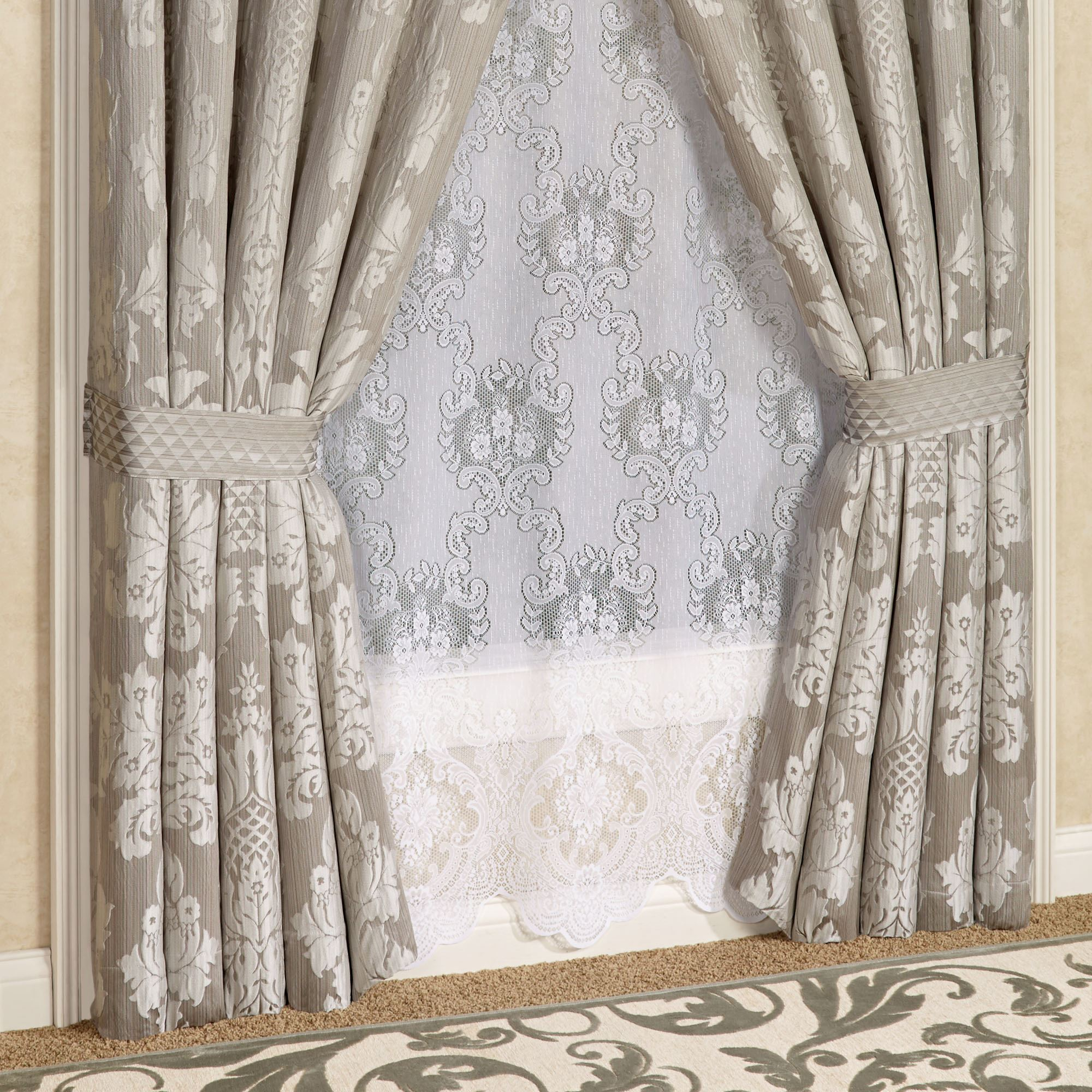 Chandelier Damask Window Treatment by J Queen New York