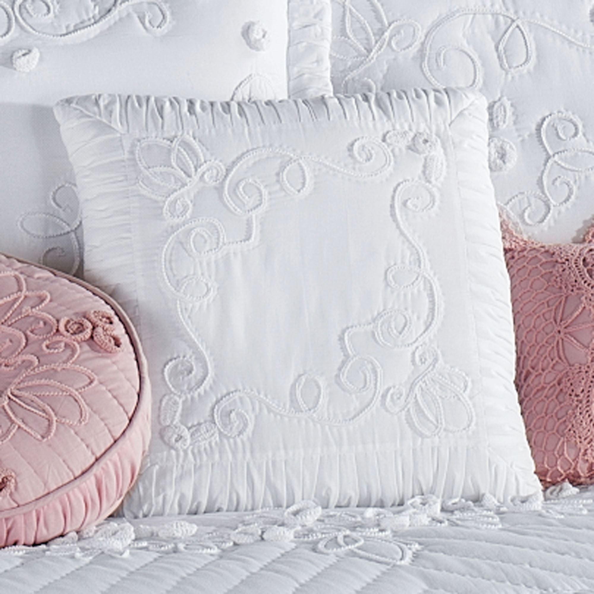 Tranquil Garden White Decorative Pillows