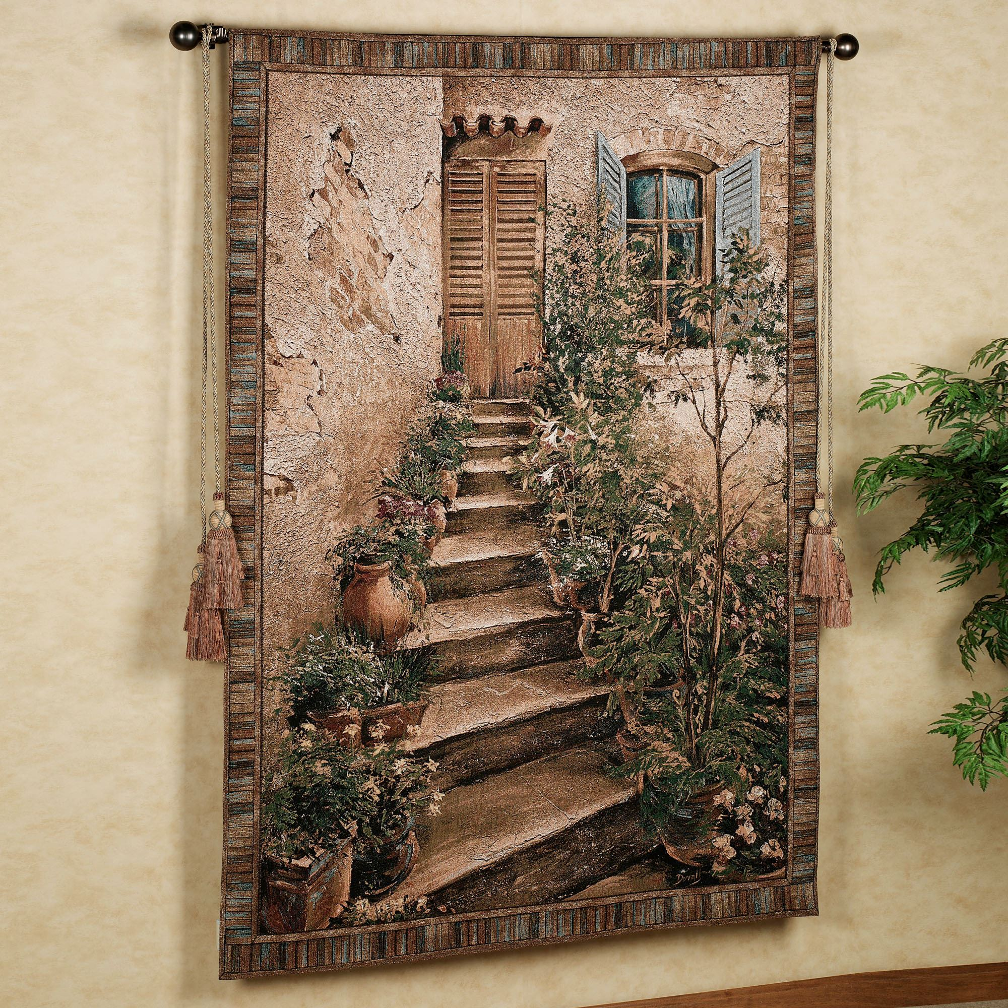 f070ab5c4b Tuscan Villa II Wall Tapestry. Touch to zoom