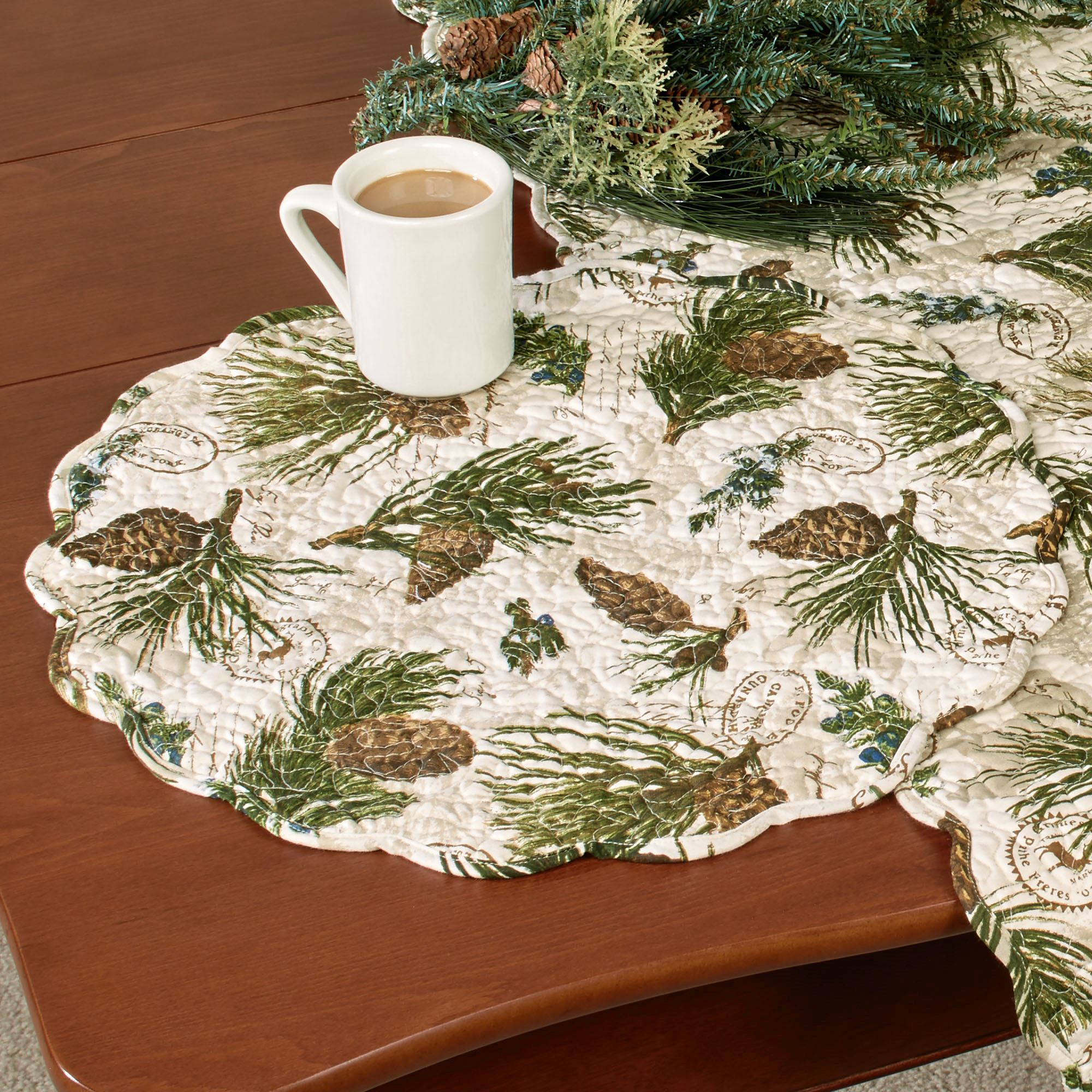 Walk In The Woods Round Placemat Set Multi Earth Set Of Six