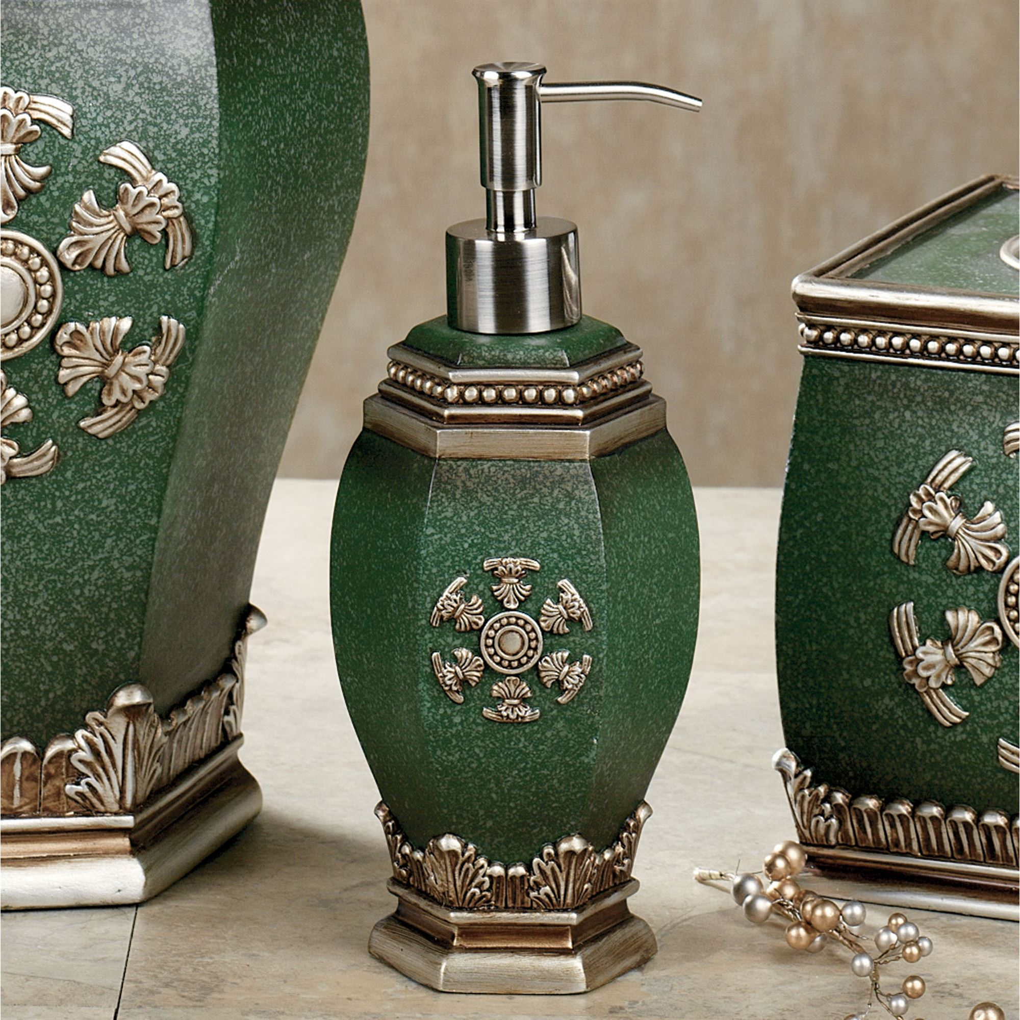 Merveilleux Elle Lotion Soap Dispenser Hunter Green