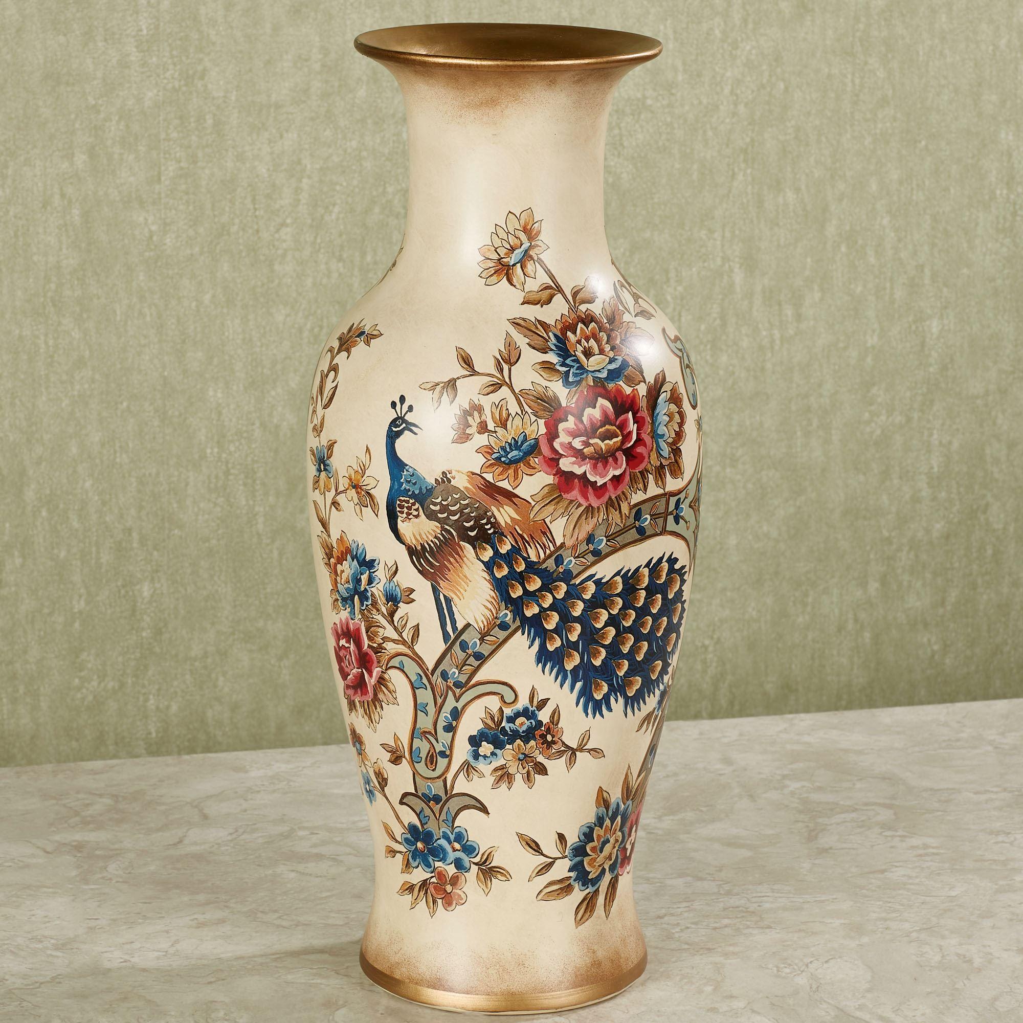 siroun peacock decorative ceramic vase. Black Bedroom Furniture Sets. Home Design Ideas