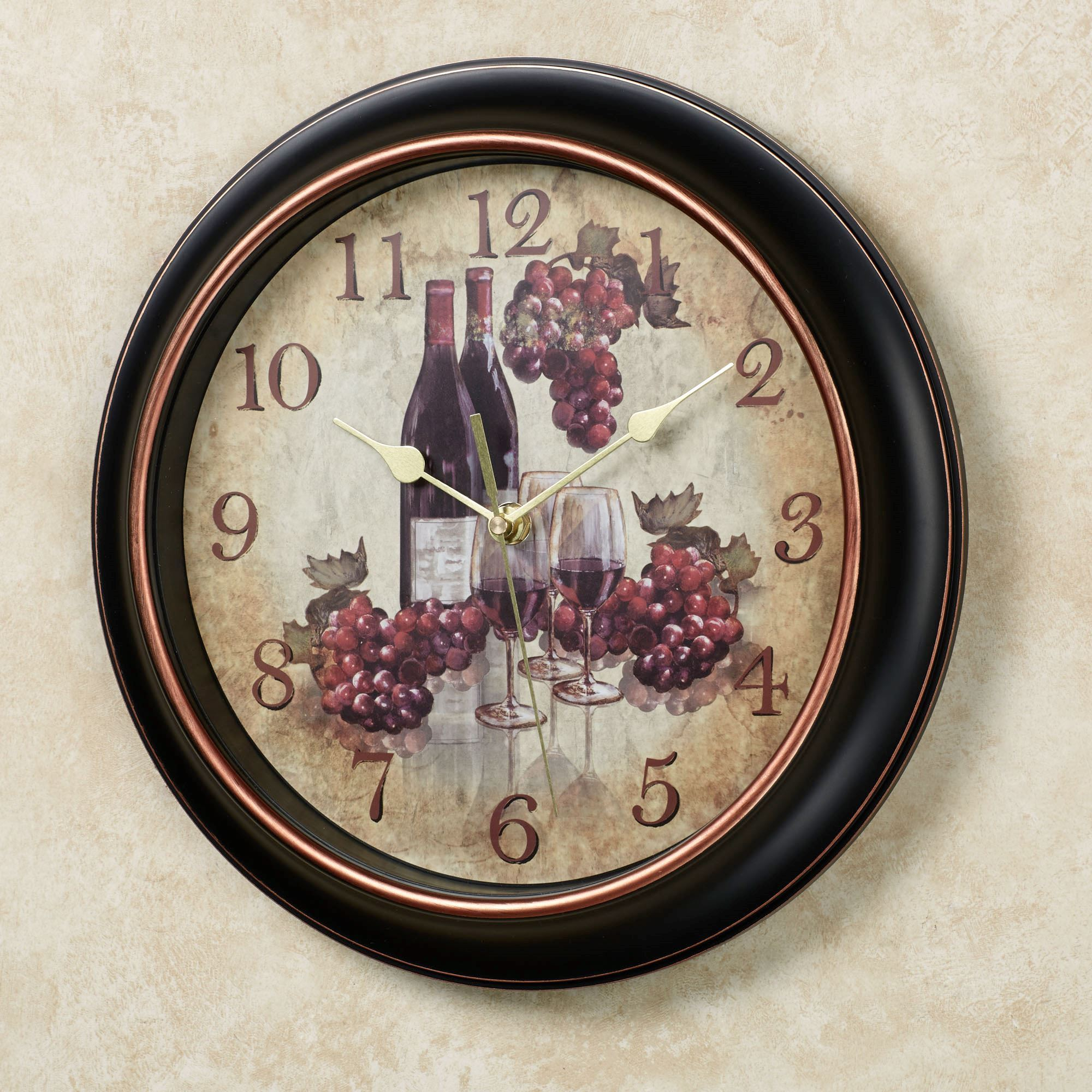 Kitchen Clock With Grapes