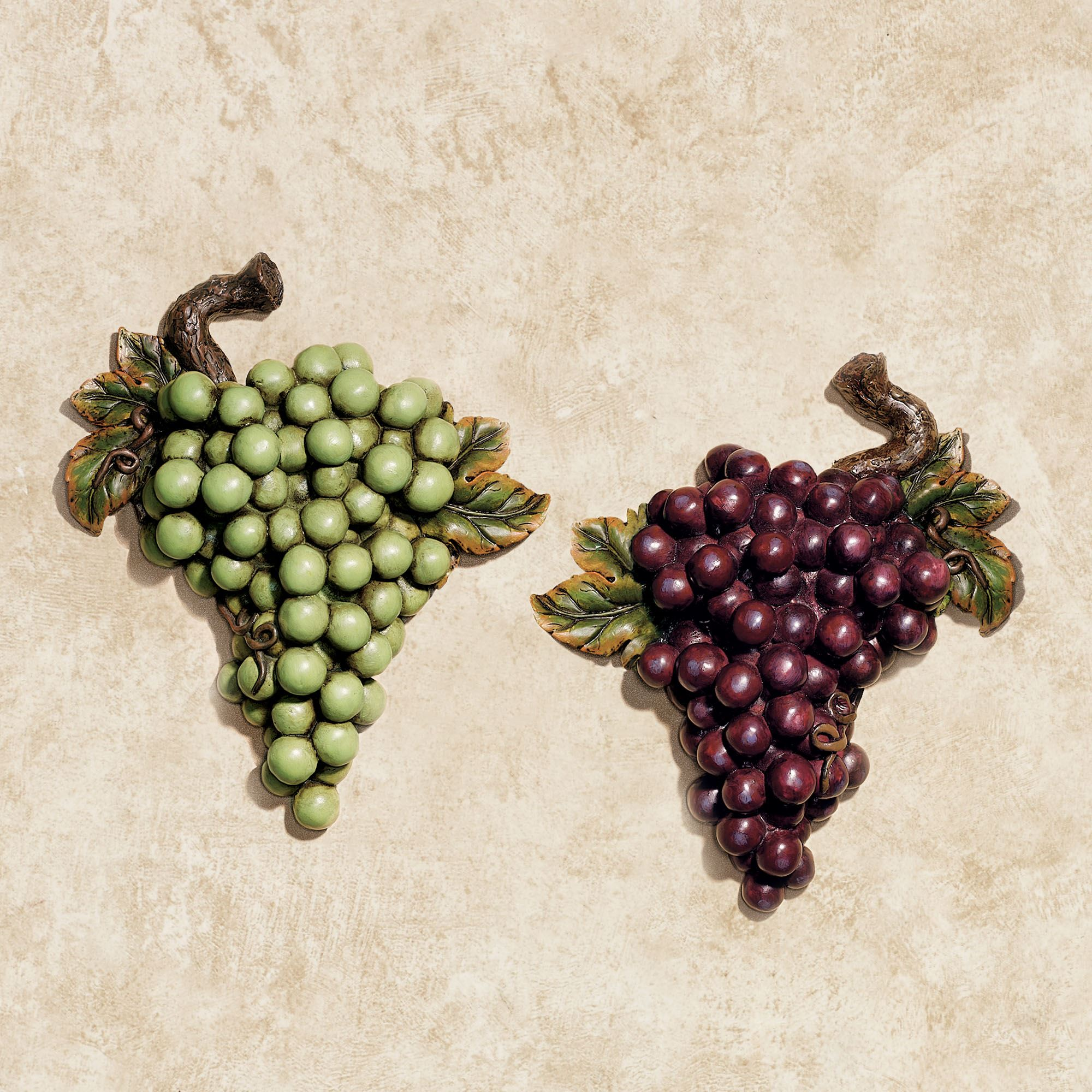 Bountiful Grapes Wall Accent Set Of Two Kitchen