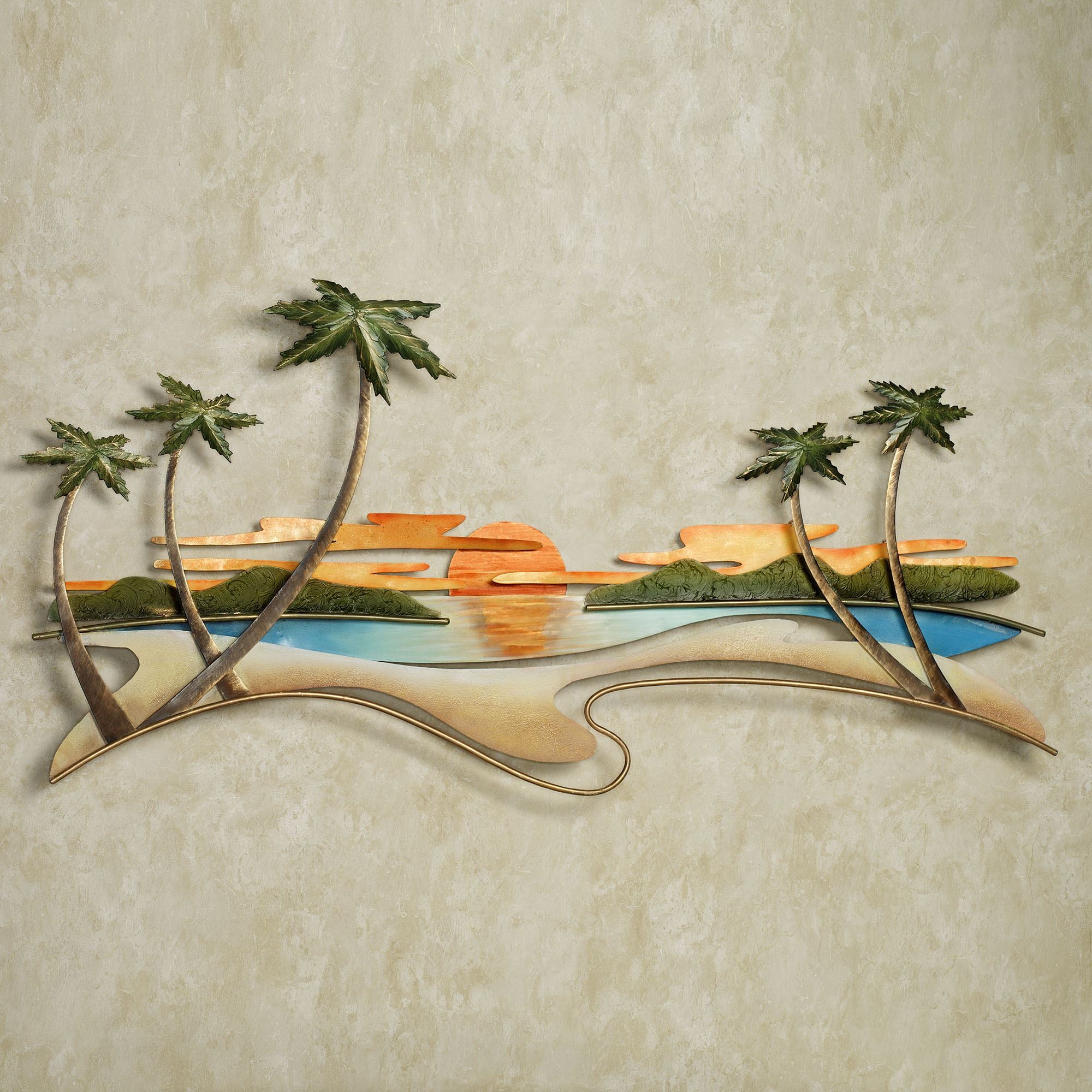 Caribbean Sunset Metal Wall Sculpture By Jasonw Studios