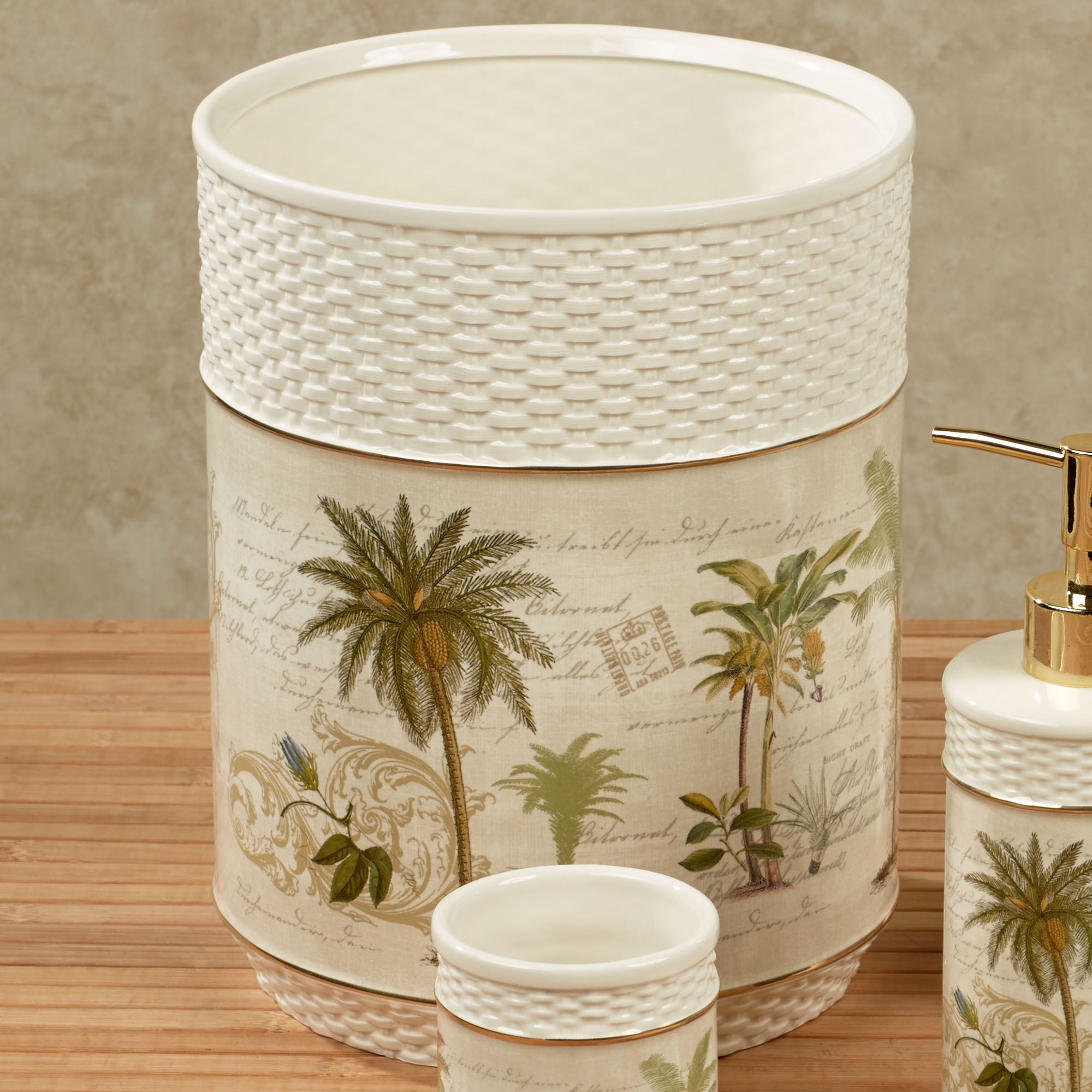 Ideal Colony Palm Tree Tropical Bath Accessories RO14