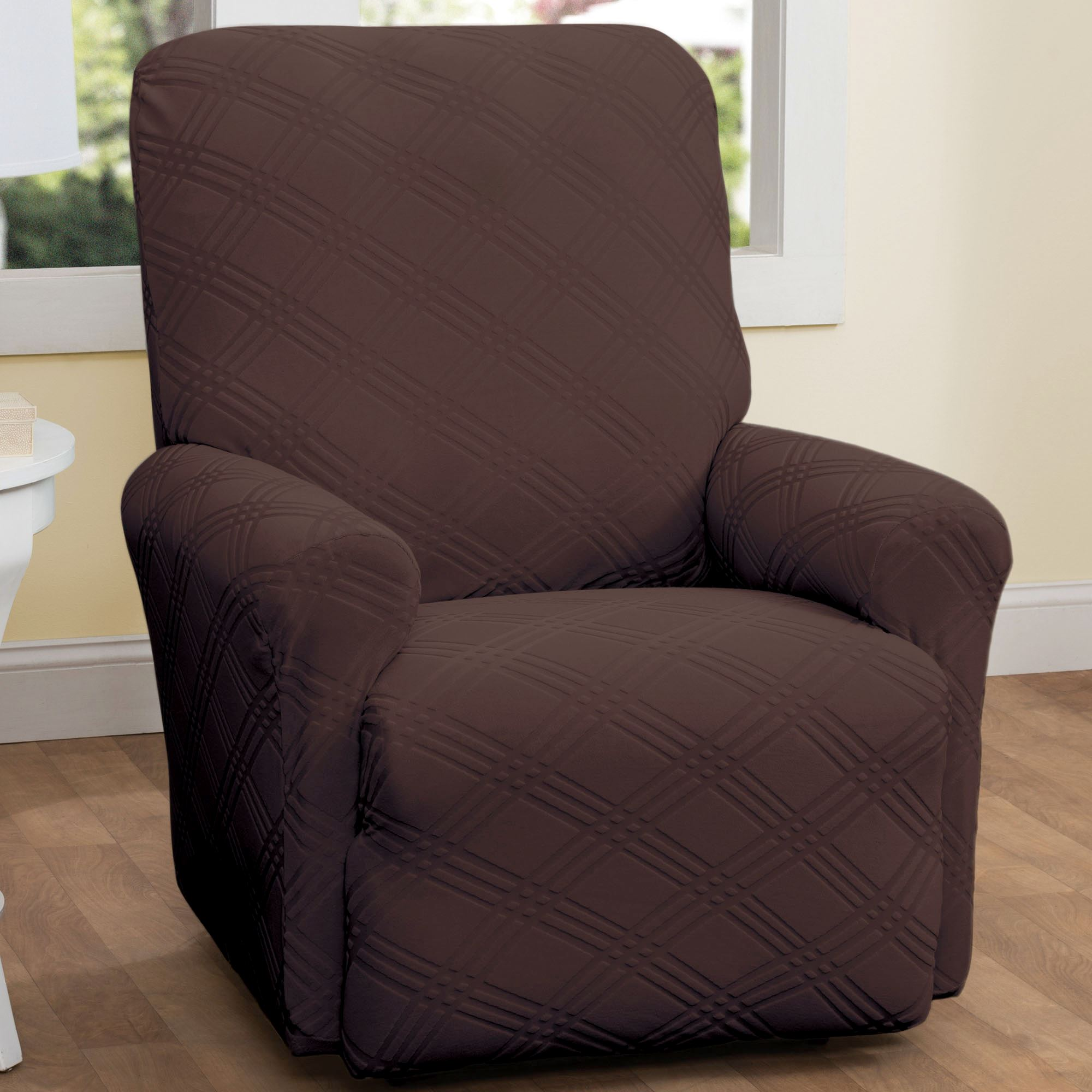 Double Diamond Stretch Slipcover Recliner