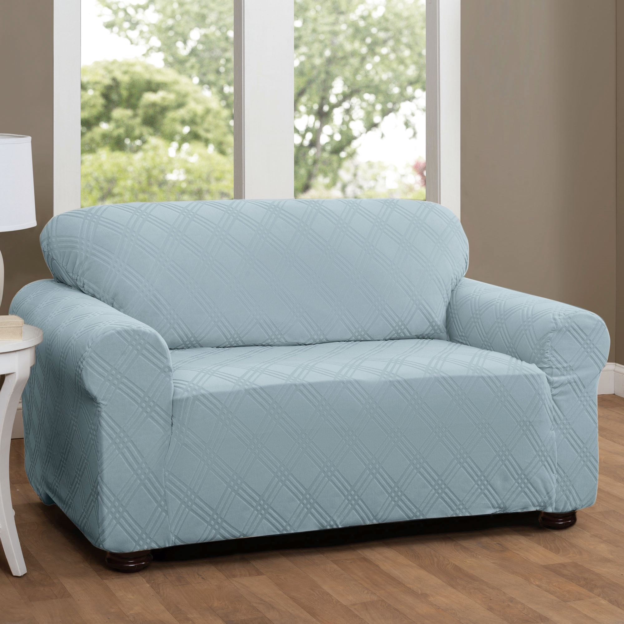 Delicieux Double Diamond Stretch Slipcover Loveseat