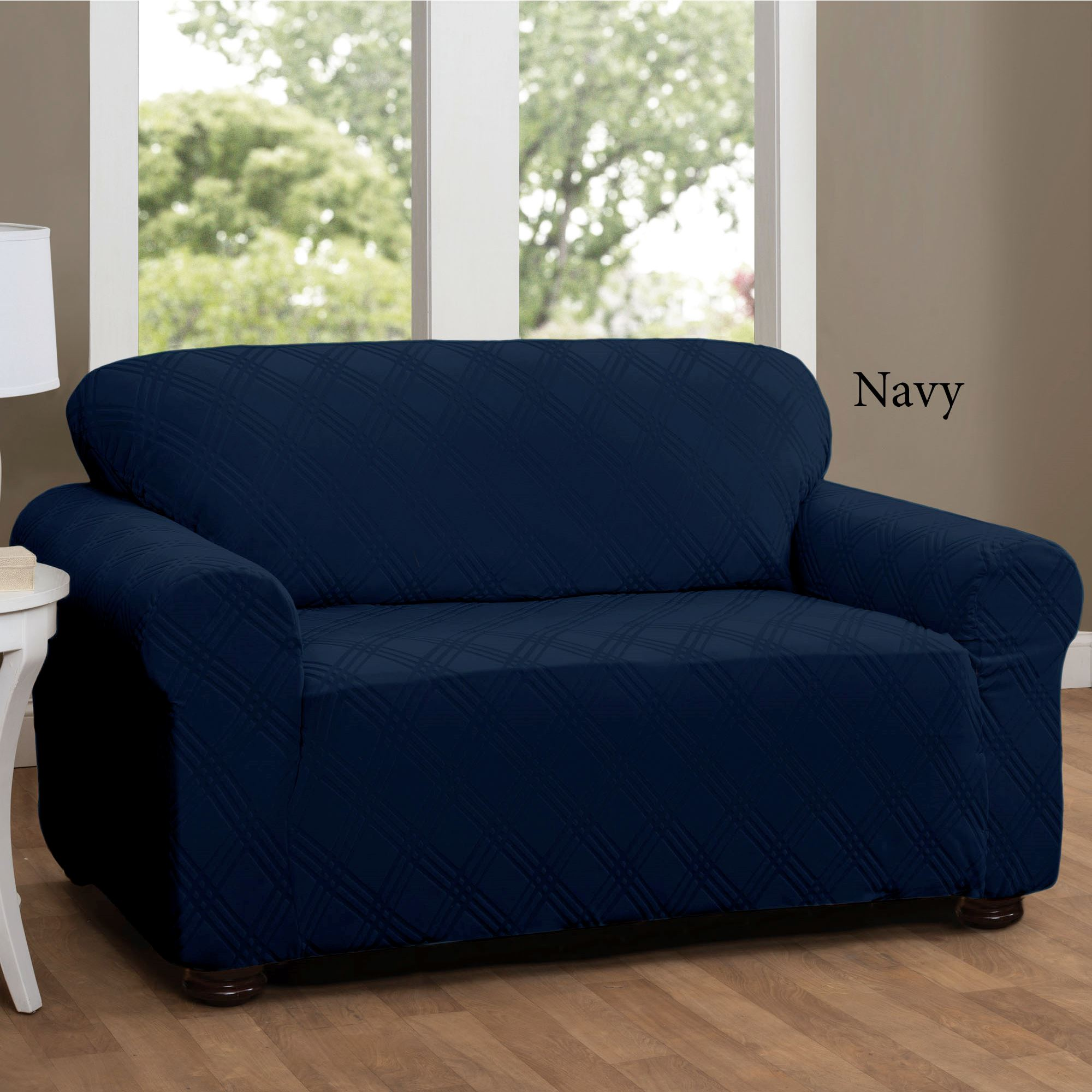 Picture of: Double Diamond Stretch Loveseat Slipcovers