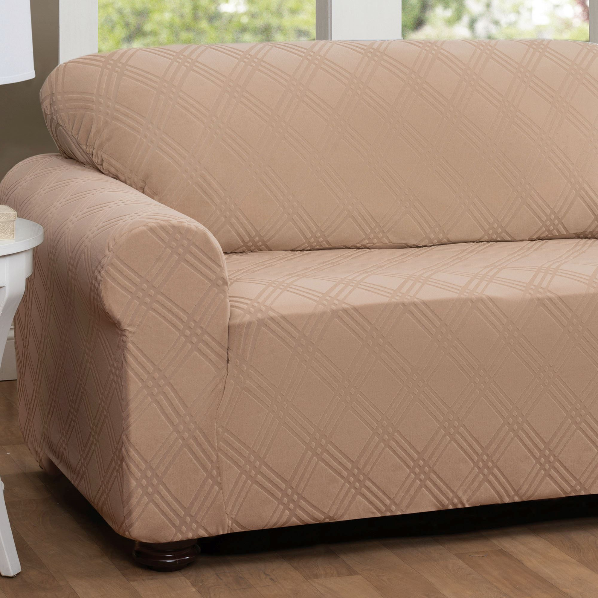 Double Diamond Stretch Slipcover Sofa