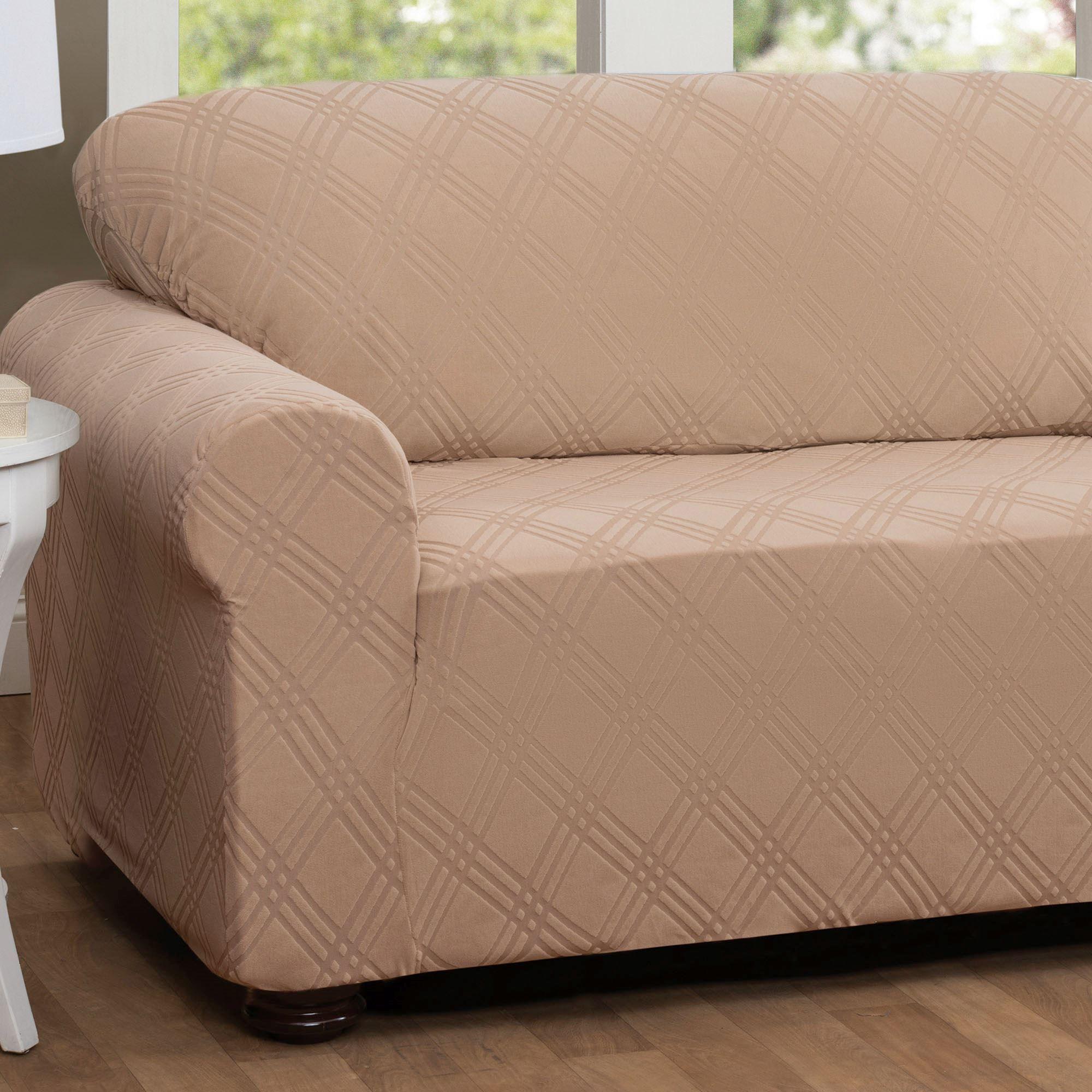 Double Diamond Stretch Slipcover Sofa