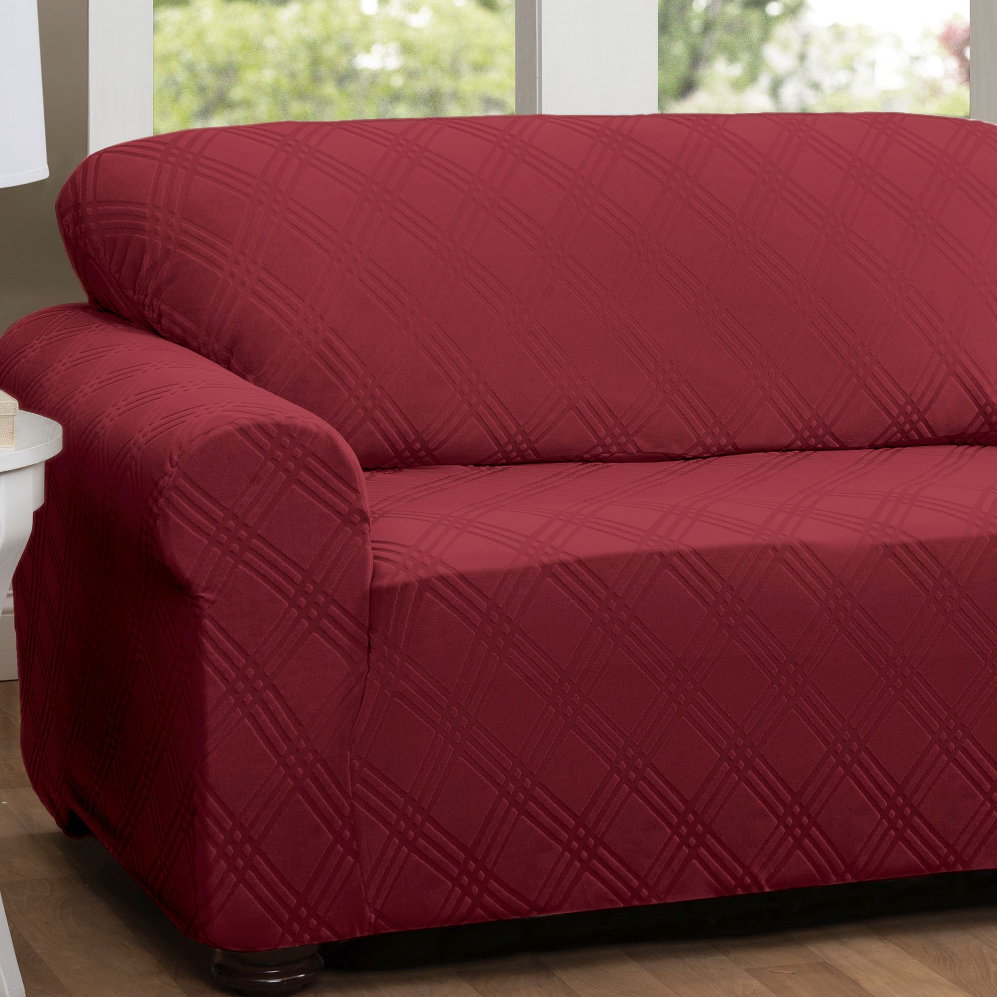 New Slipcover Stretch Sofa Cover Sofa With Loveseat Chair: Double Diamond Stretch Sofa Slipcovers
