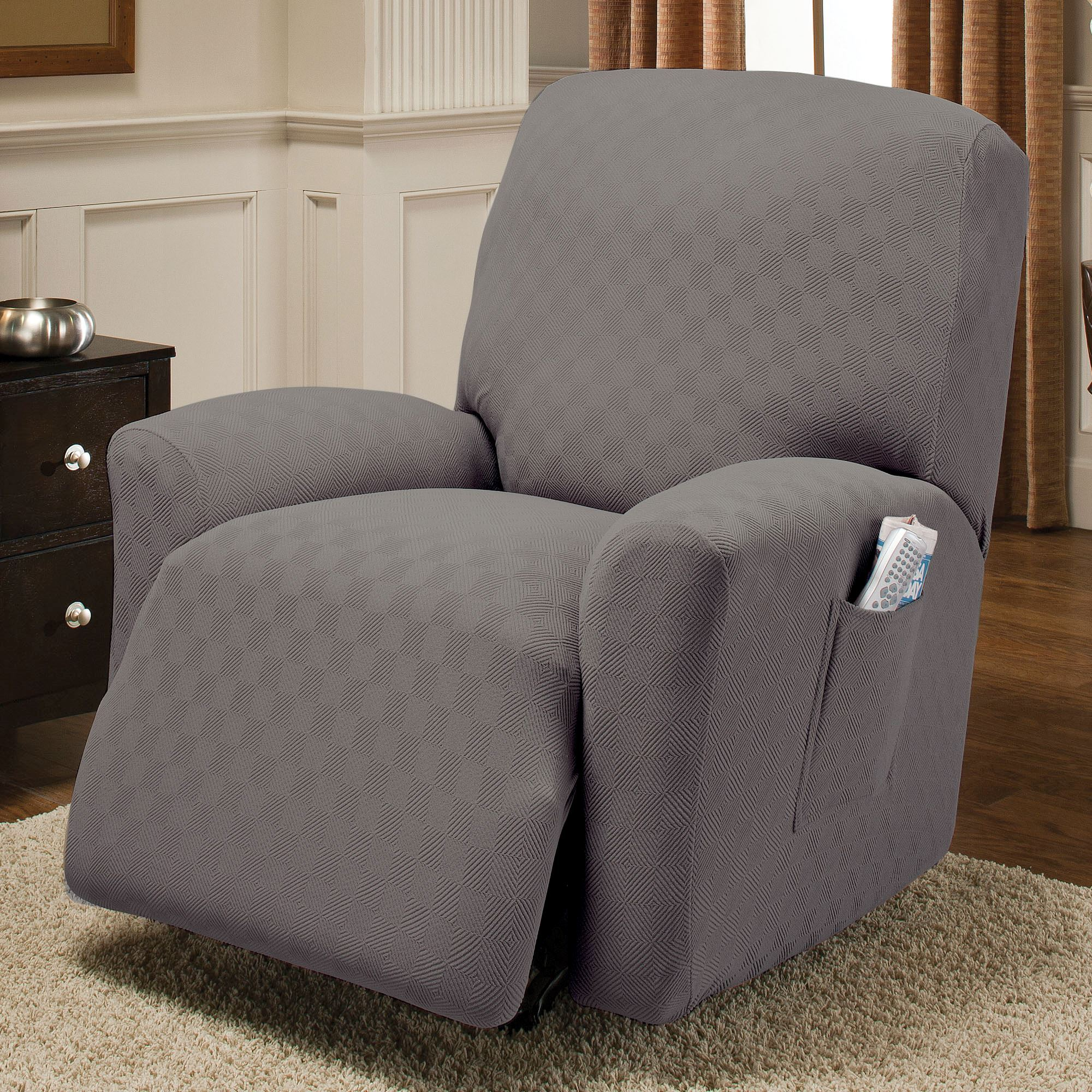 for serta stretch cushion piece box slipcover recliner grid com ip walmart