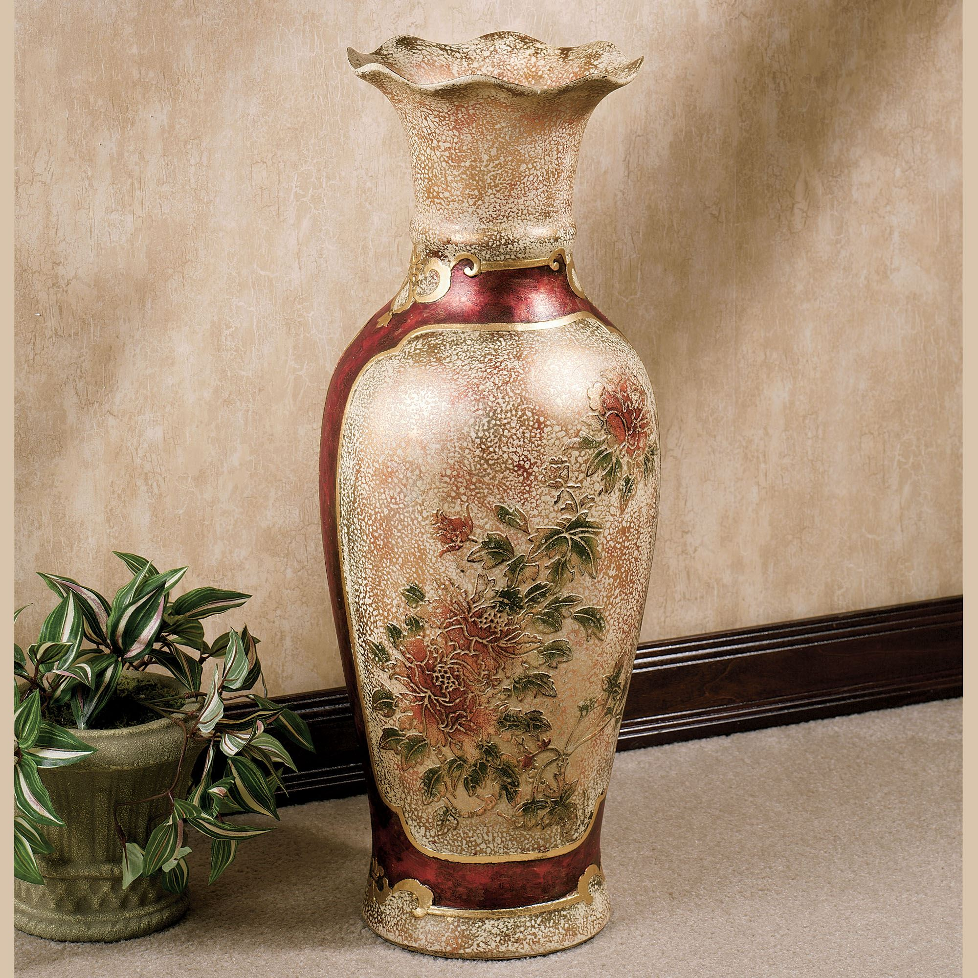 Table vases floor vases decorative jars touch of class elysian blooming floor vase reviewsmspy