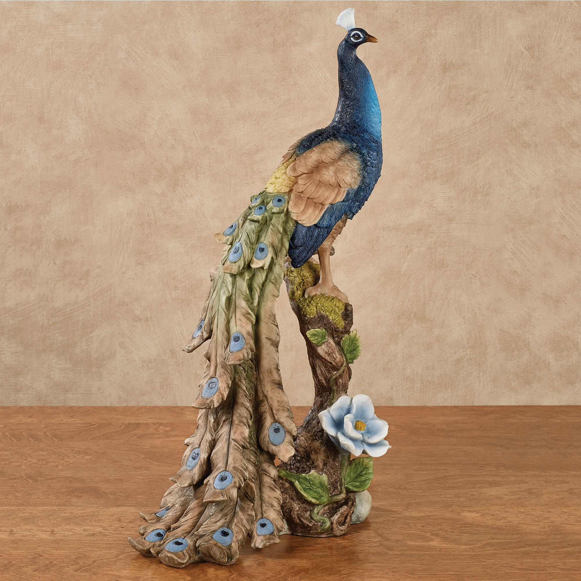 Royal Beauty Peacock Table Sculpture