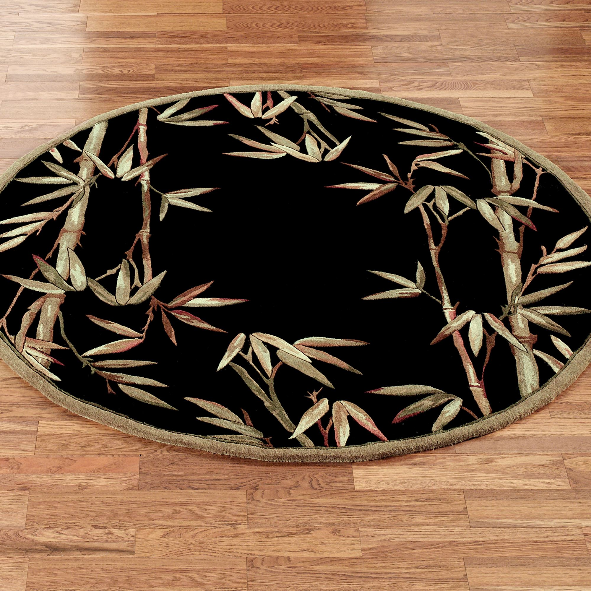 Bamboo Round Area Rug