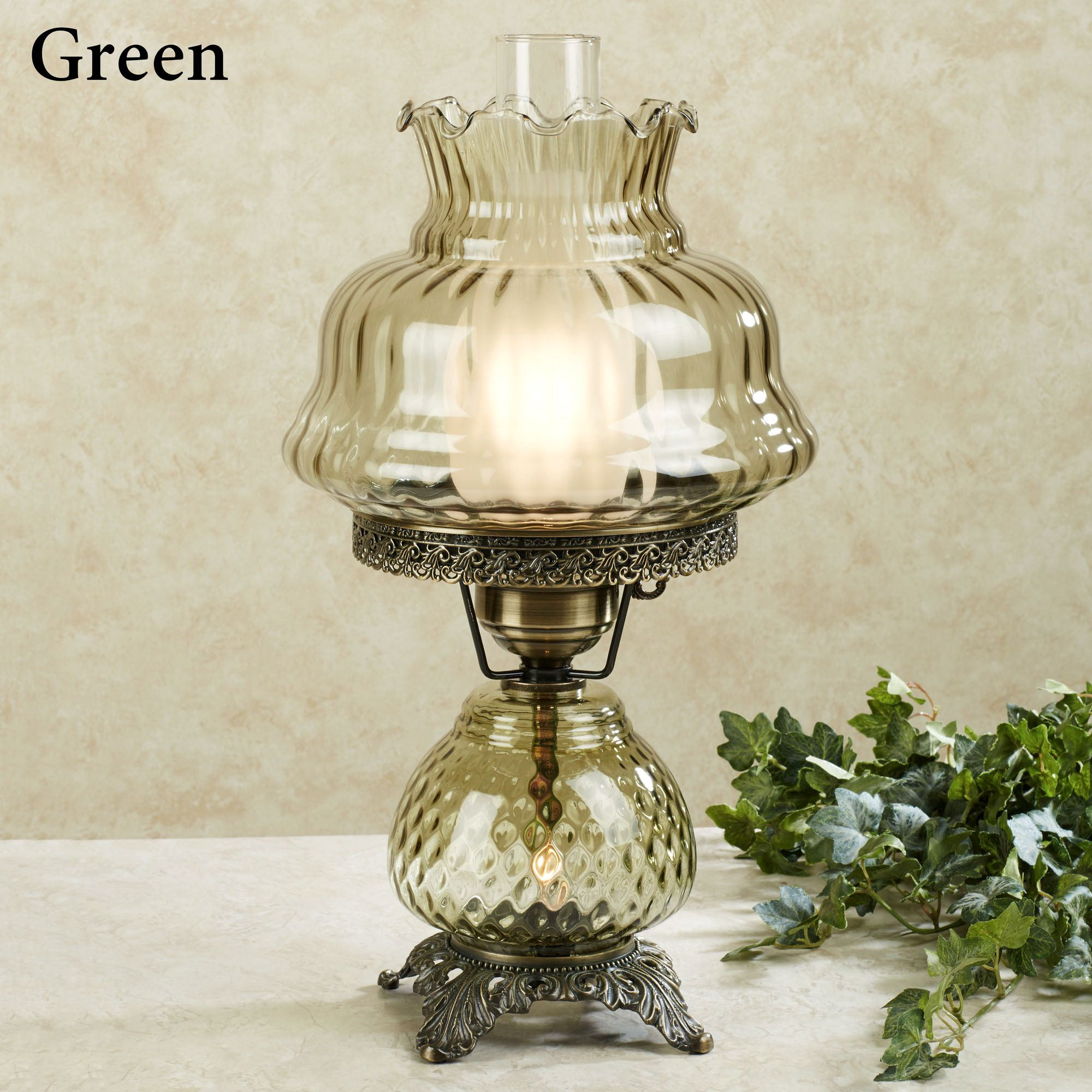 globe glass lamps illuminate life lamp table hobnail accents white paige home antique
