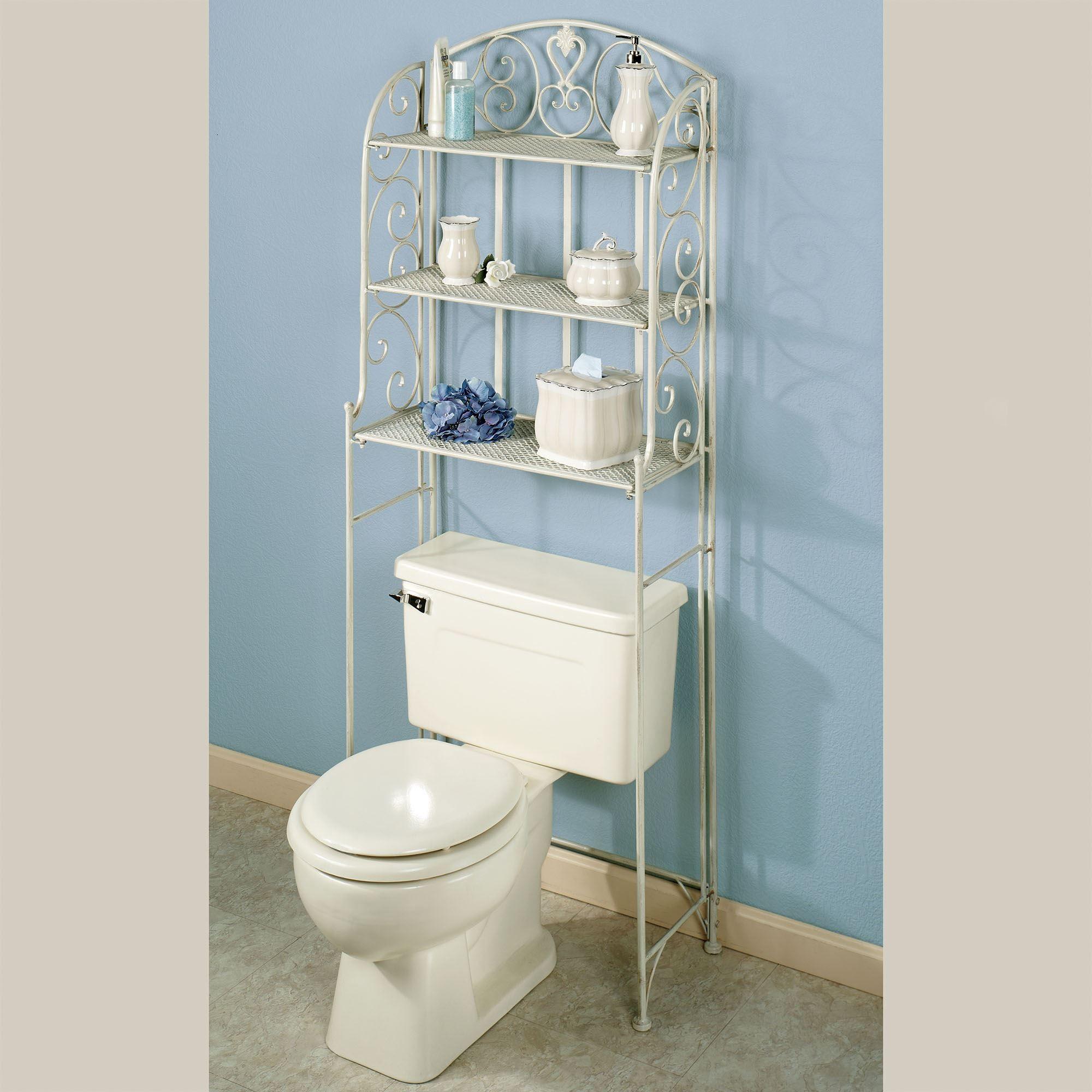 Aldabella Creamy Gold Bathroom Space Saver, Bathroom Space Saver Over Toilet