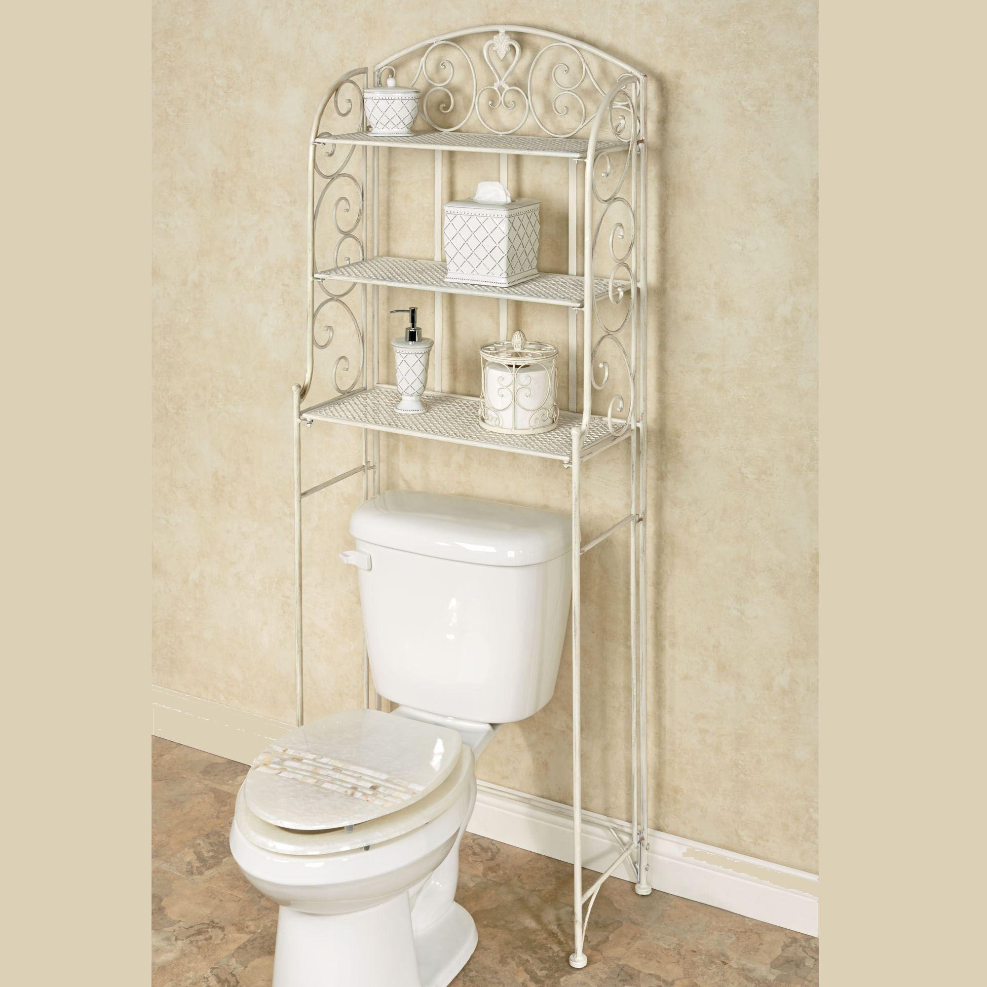 Aldabella Creamy Gold Bathroom Space Saver, White Bathroom Space Saver