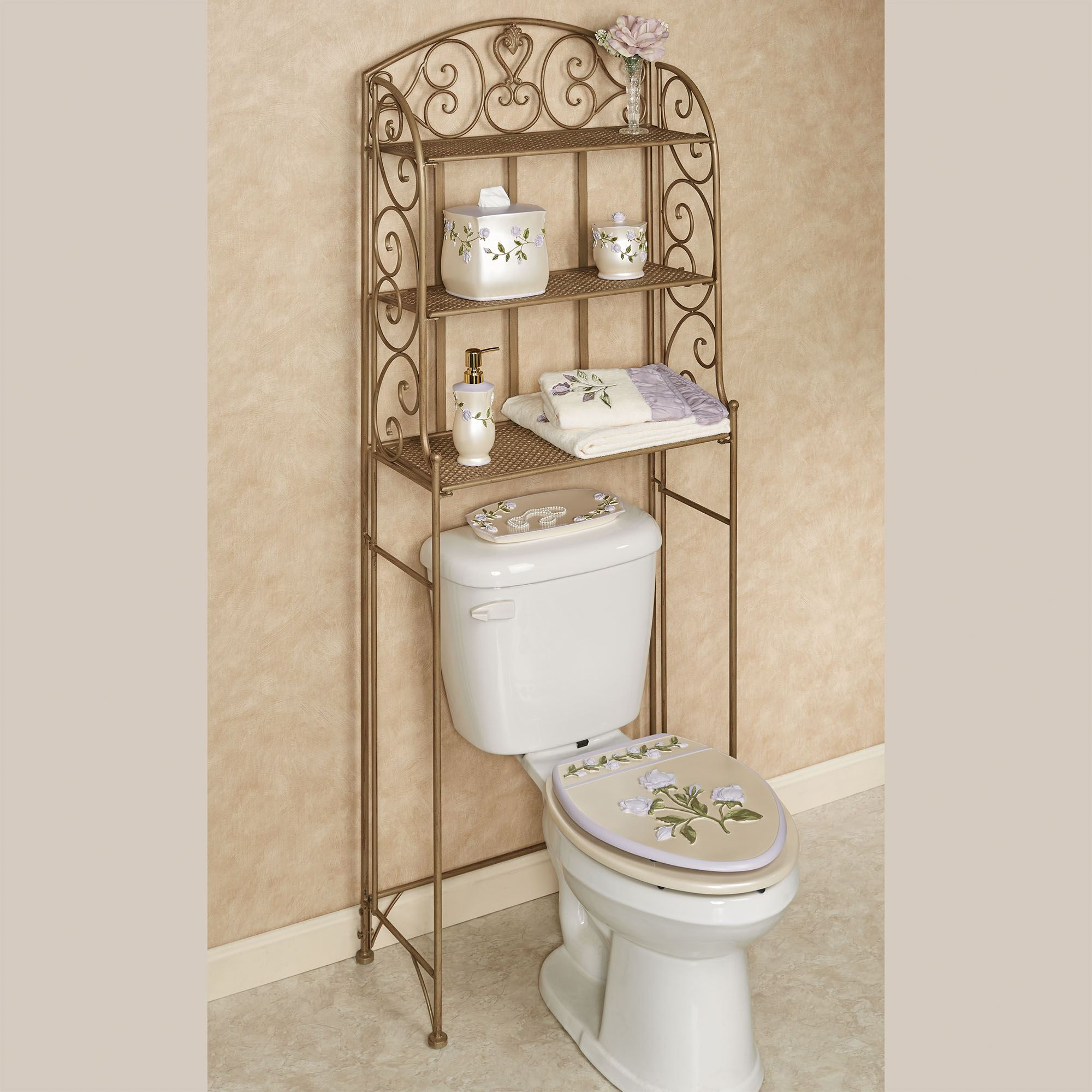 Aldabella Satin Gold Bathroom Space Saver