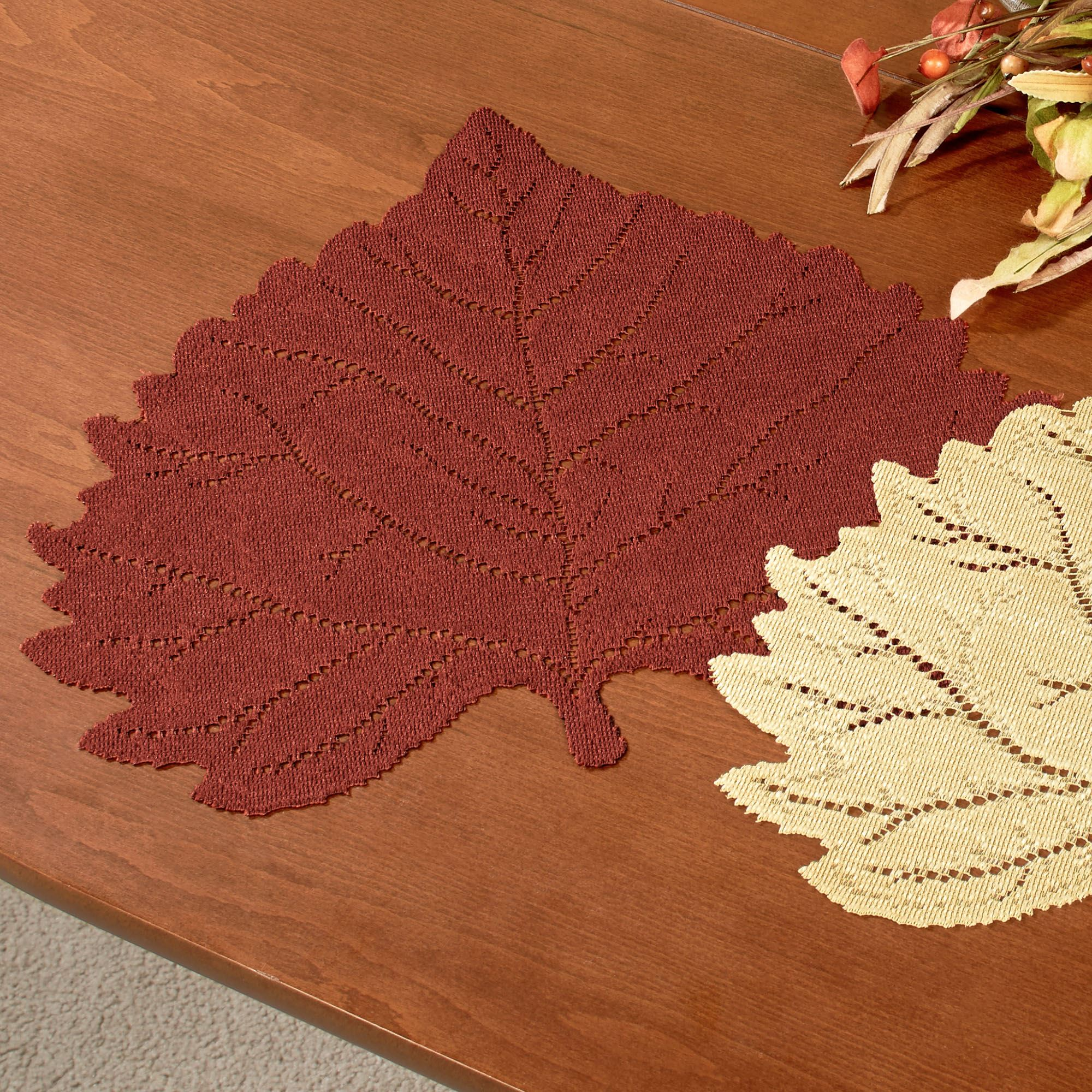 Strange Falling Leaves Autumn Placemat Set Of 4 Bralicious Painted Fabric Chair Ideas Braliciousco