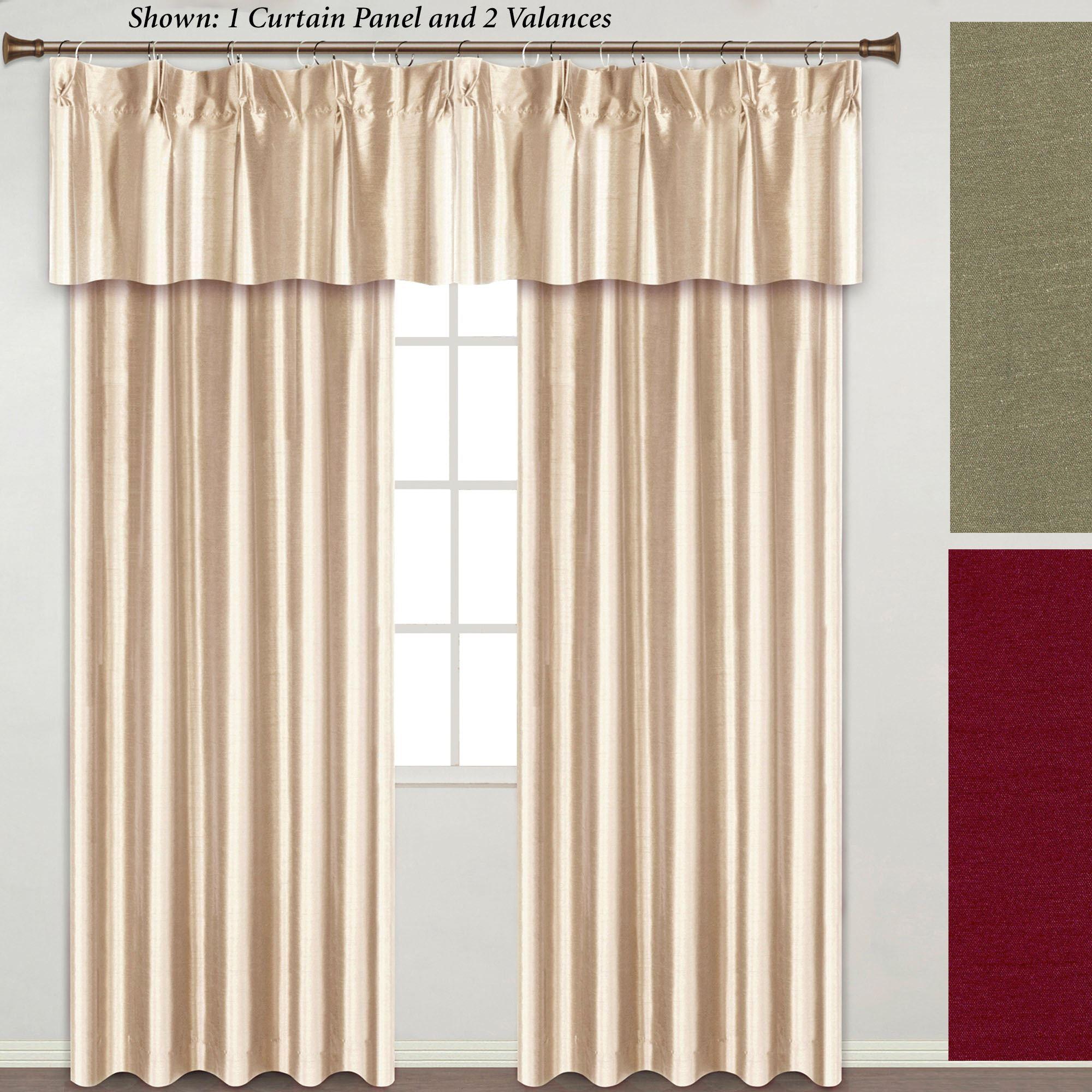 Annaleigh Faux Silk Pinch Pleat Window Treatment