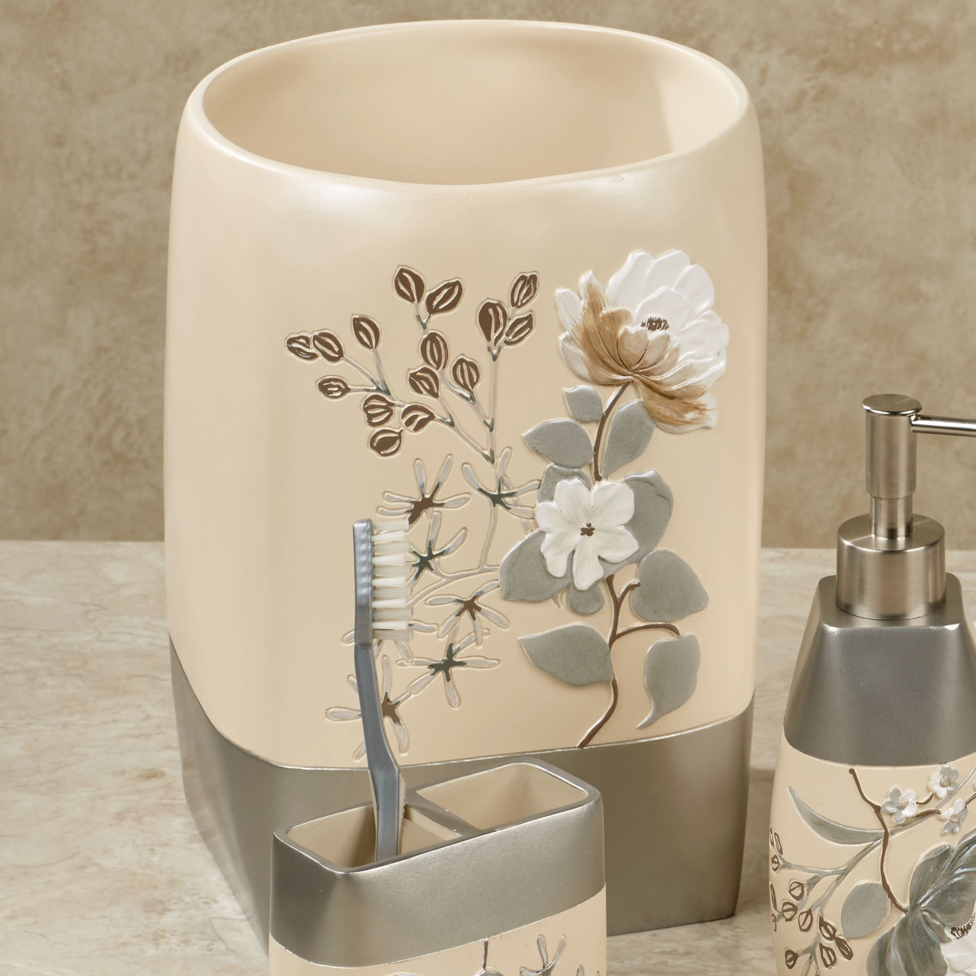 Ashley Wastebasket Beige