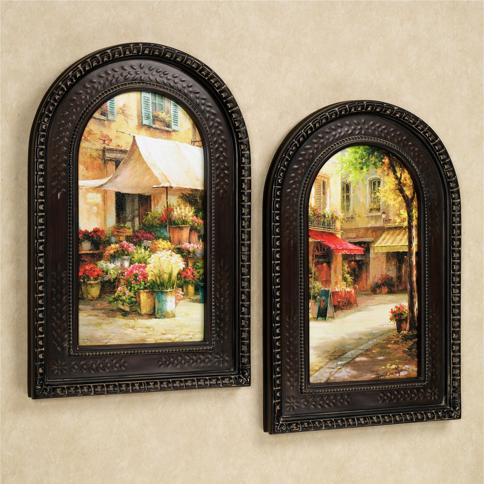 Cheap Kitchen Decor Sets: The Flower Market Arched Framed Wall Art Set