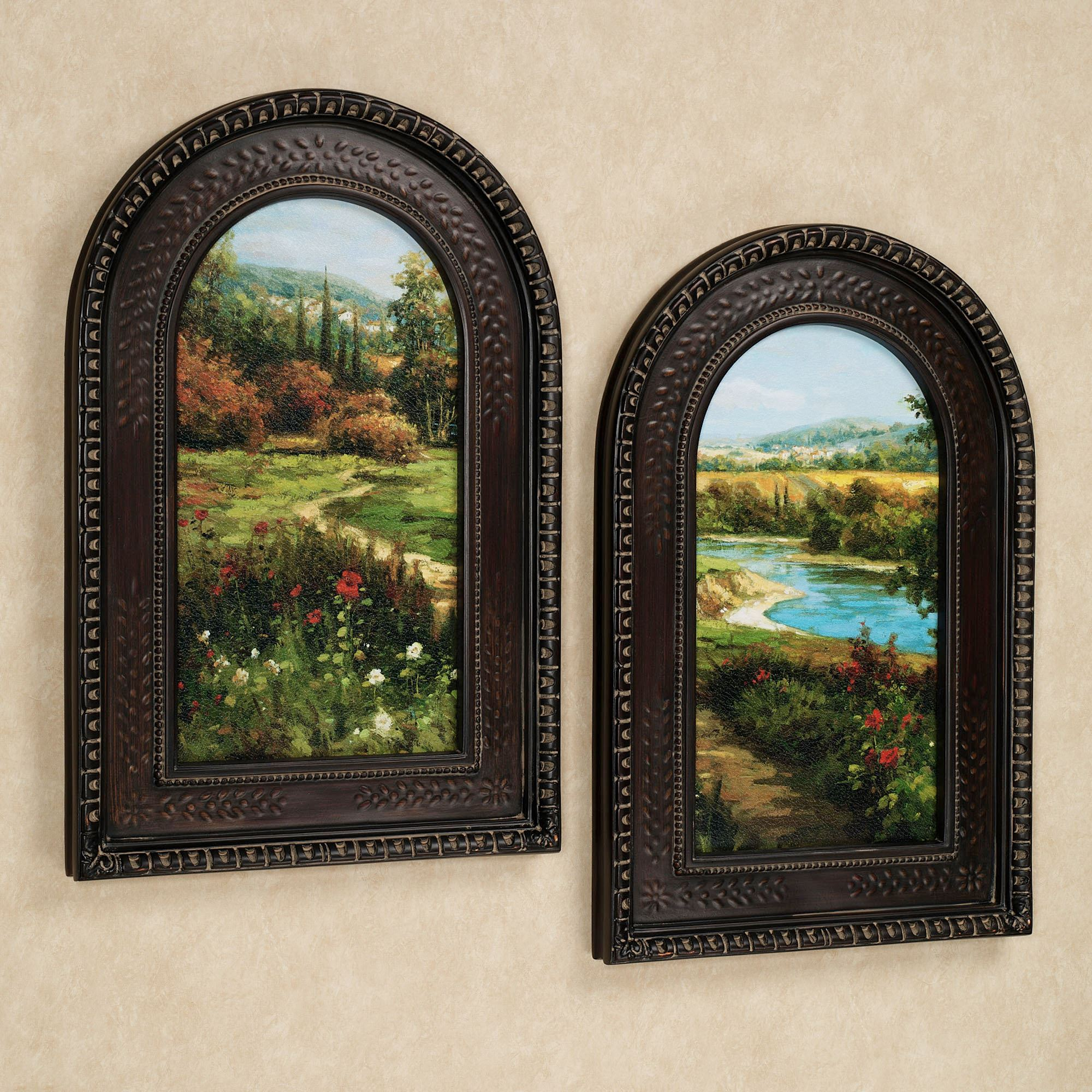 Summer Byway Arched Framed Wall Art Set